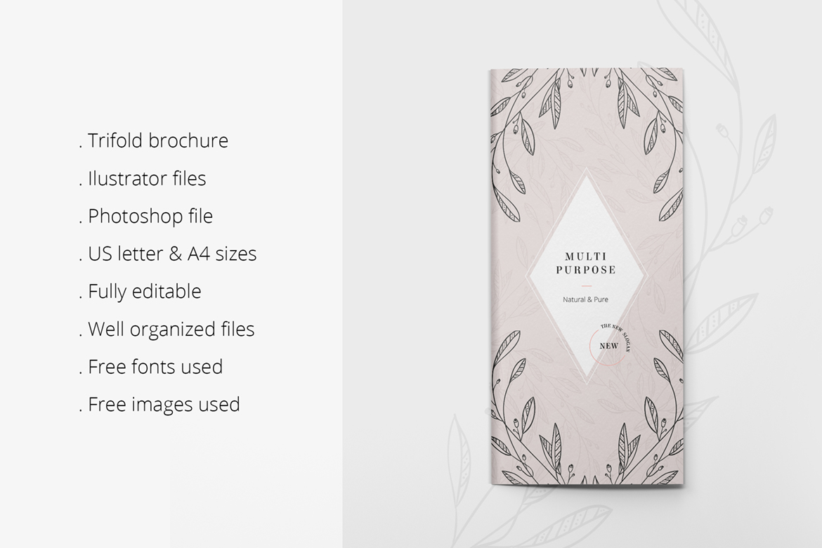 Floral Trifold Flyer Corporate Identity
