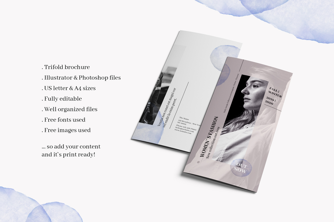 Fashion Trifold Brochure Corporate Identity