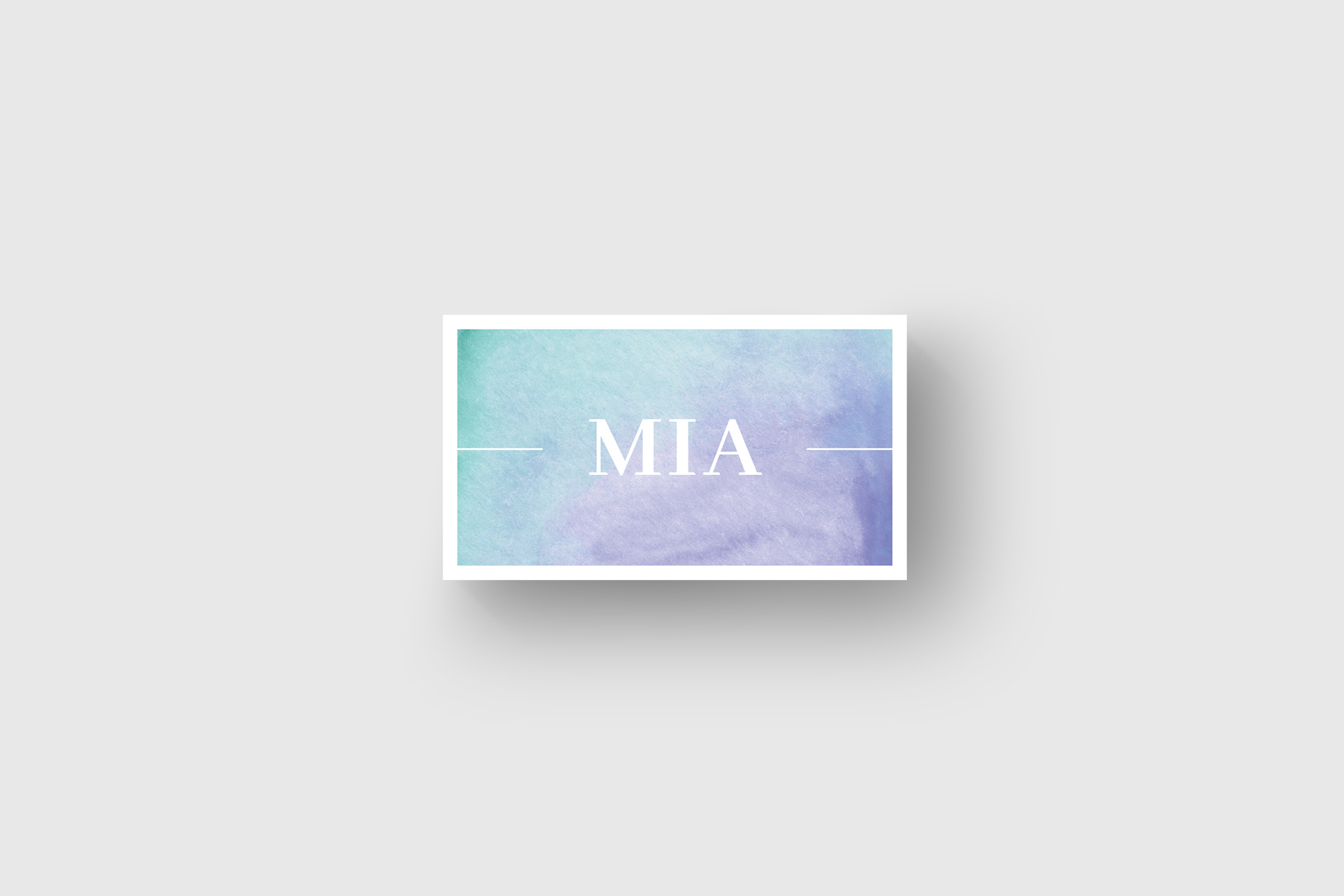 Purple Watercolor Business Card Corporate Identity