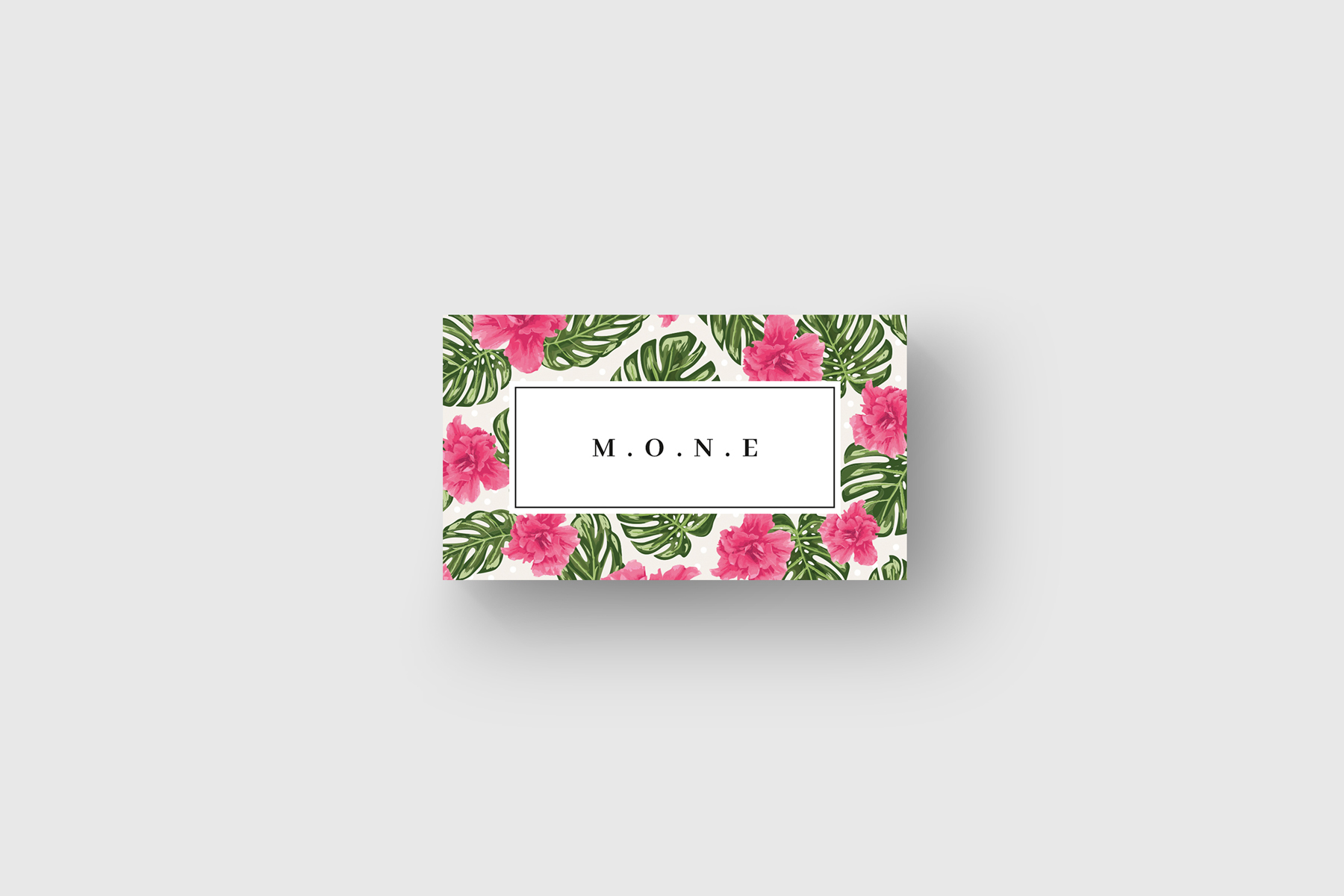 Pink Flowers Business Card Corporate Identity