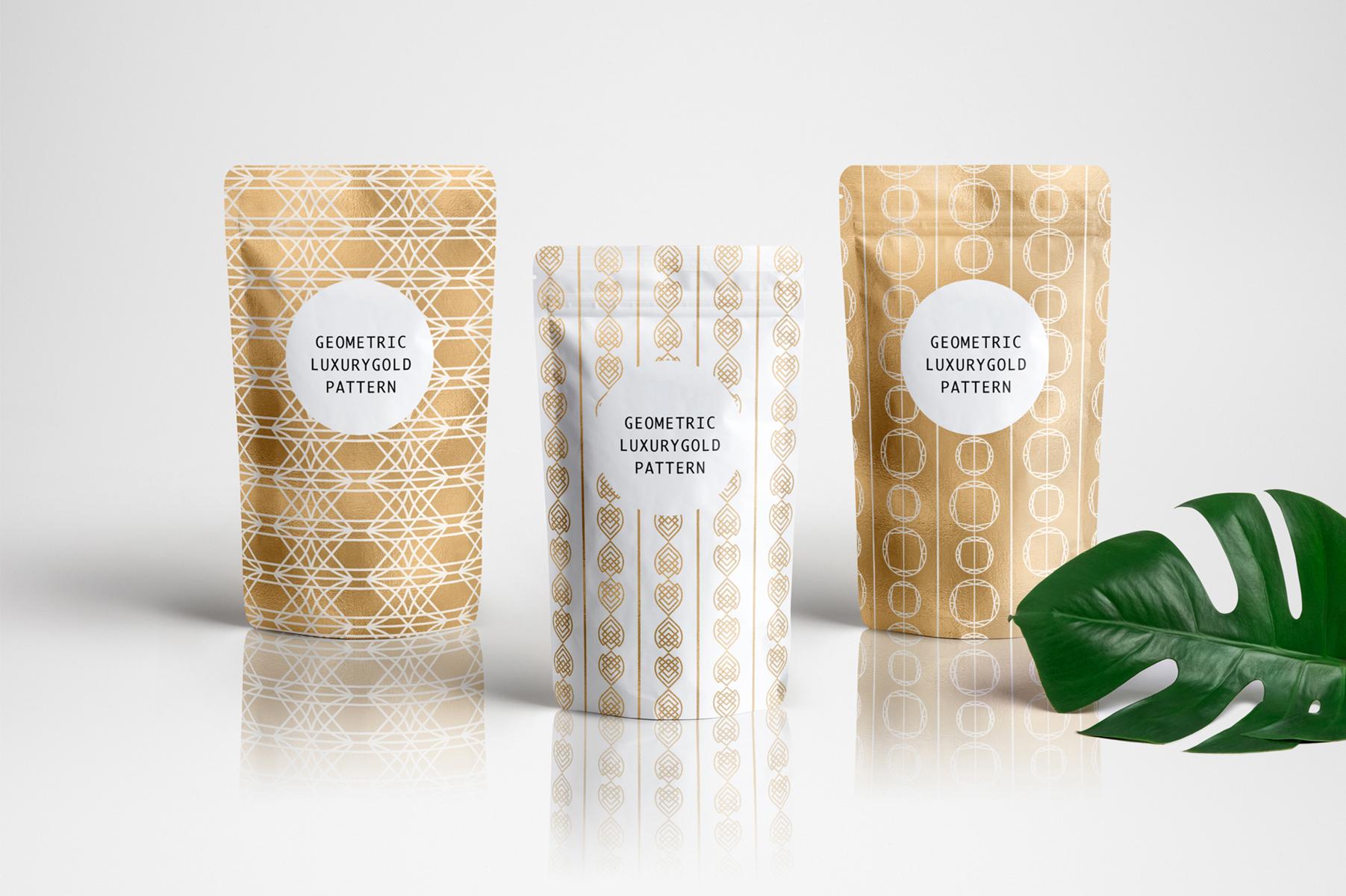 Geometric Luxurygold Patterns