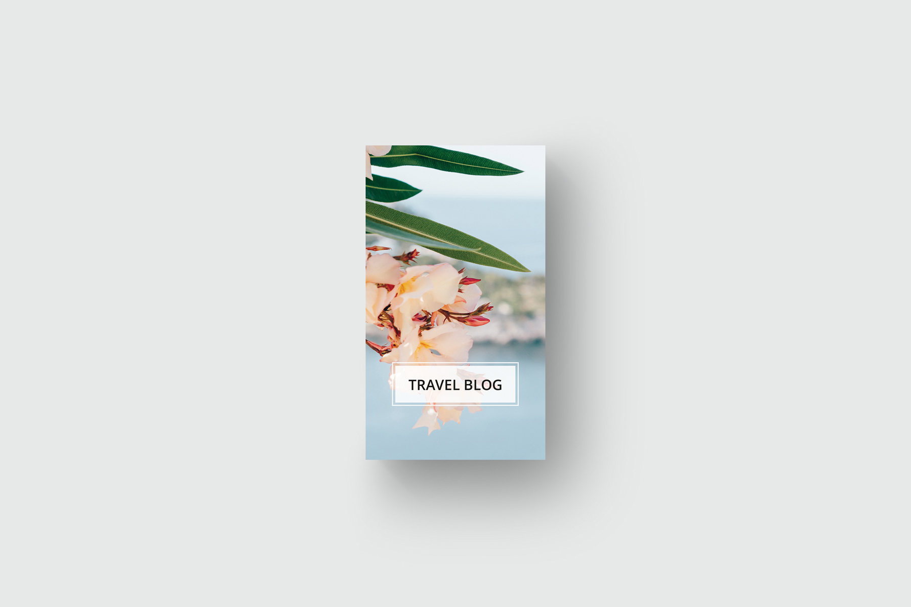 Traveling business card Corporate Identity