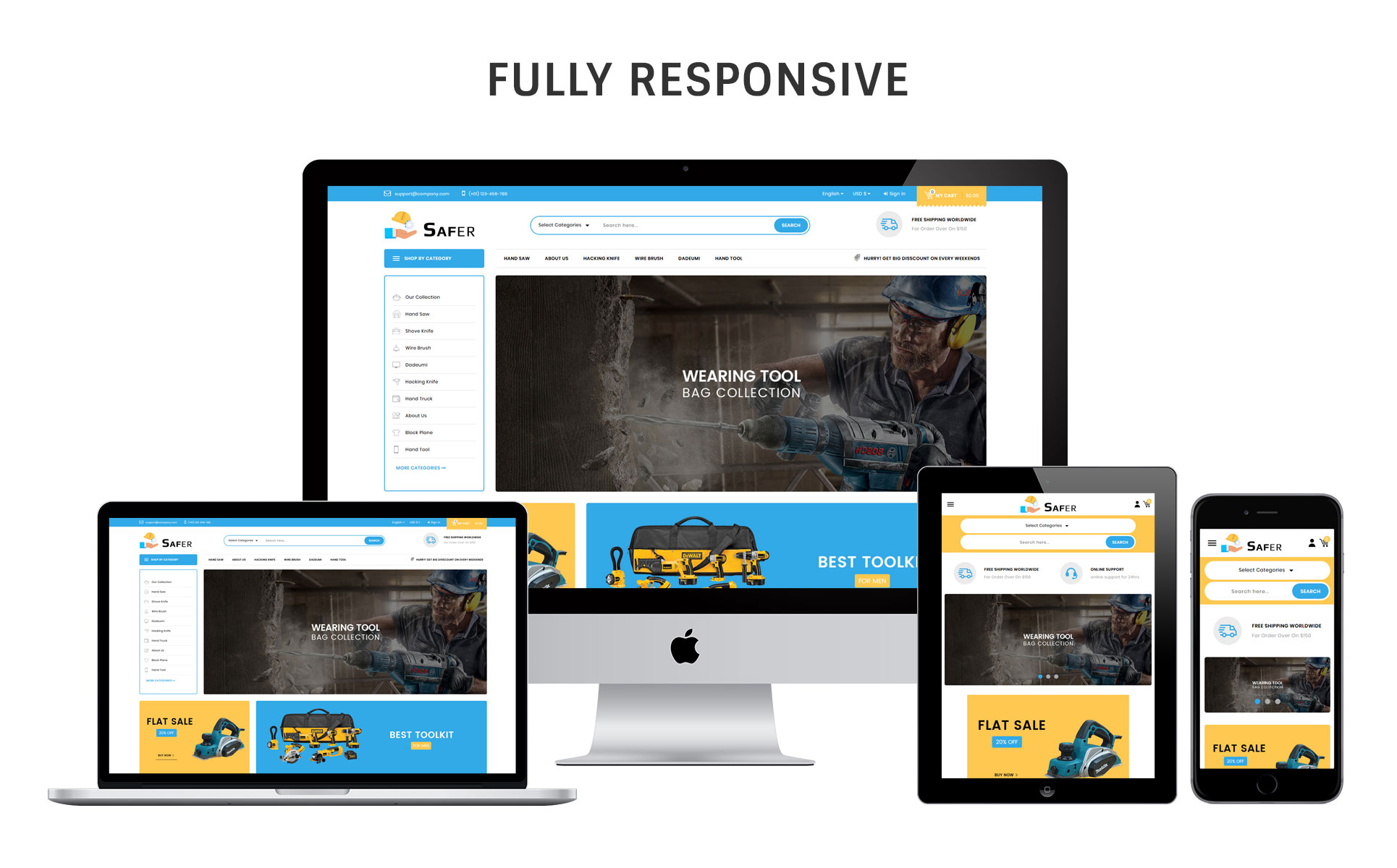Safer - The Tool Store Responsive PrestaShop Theme