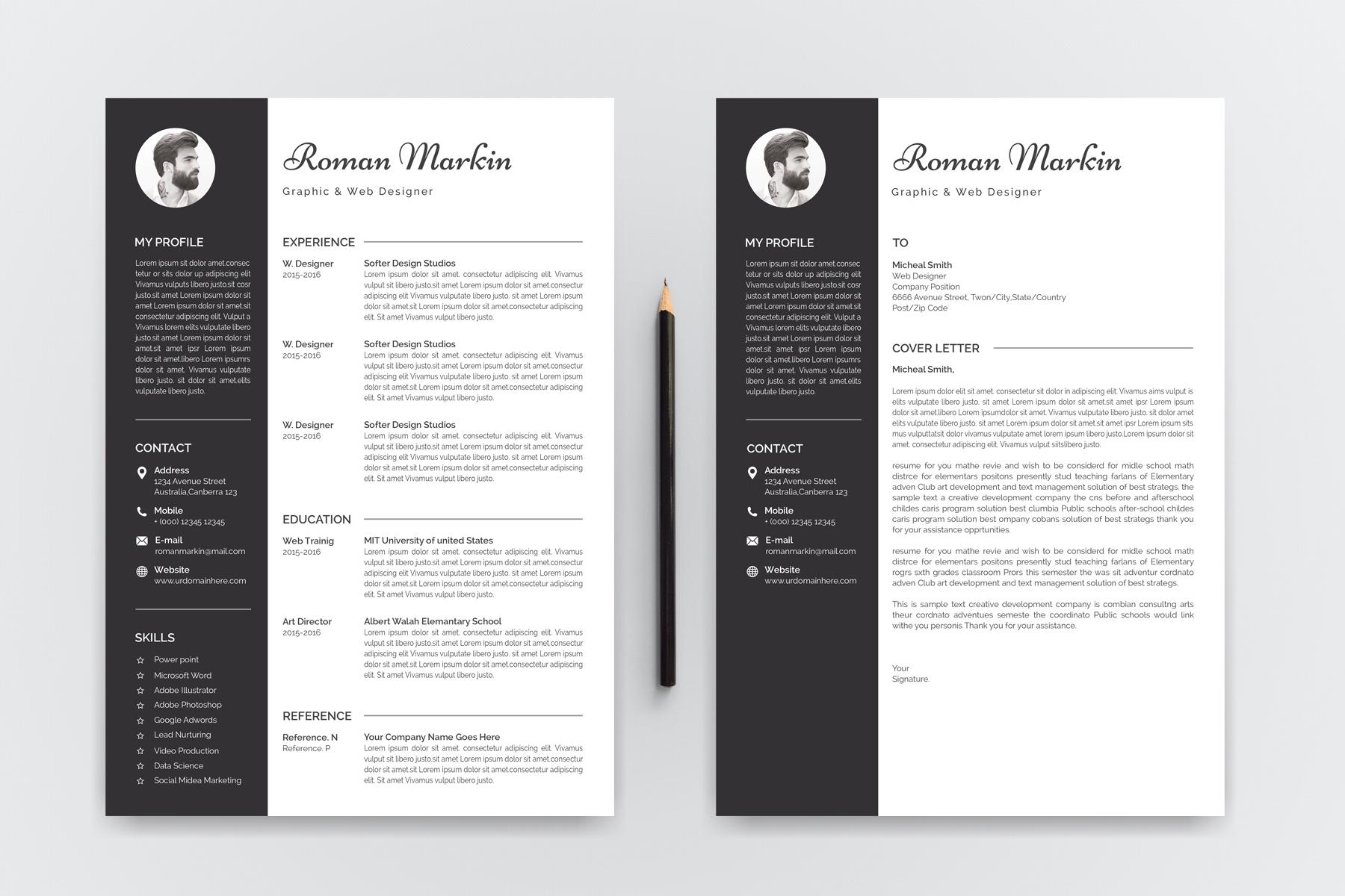 Jhon Markin Modern Resume Template