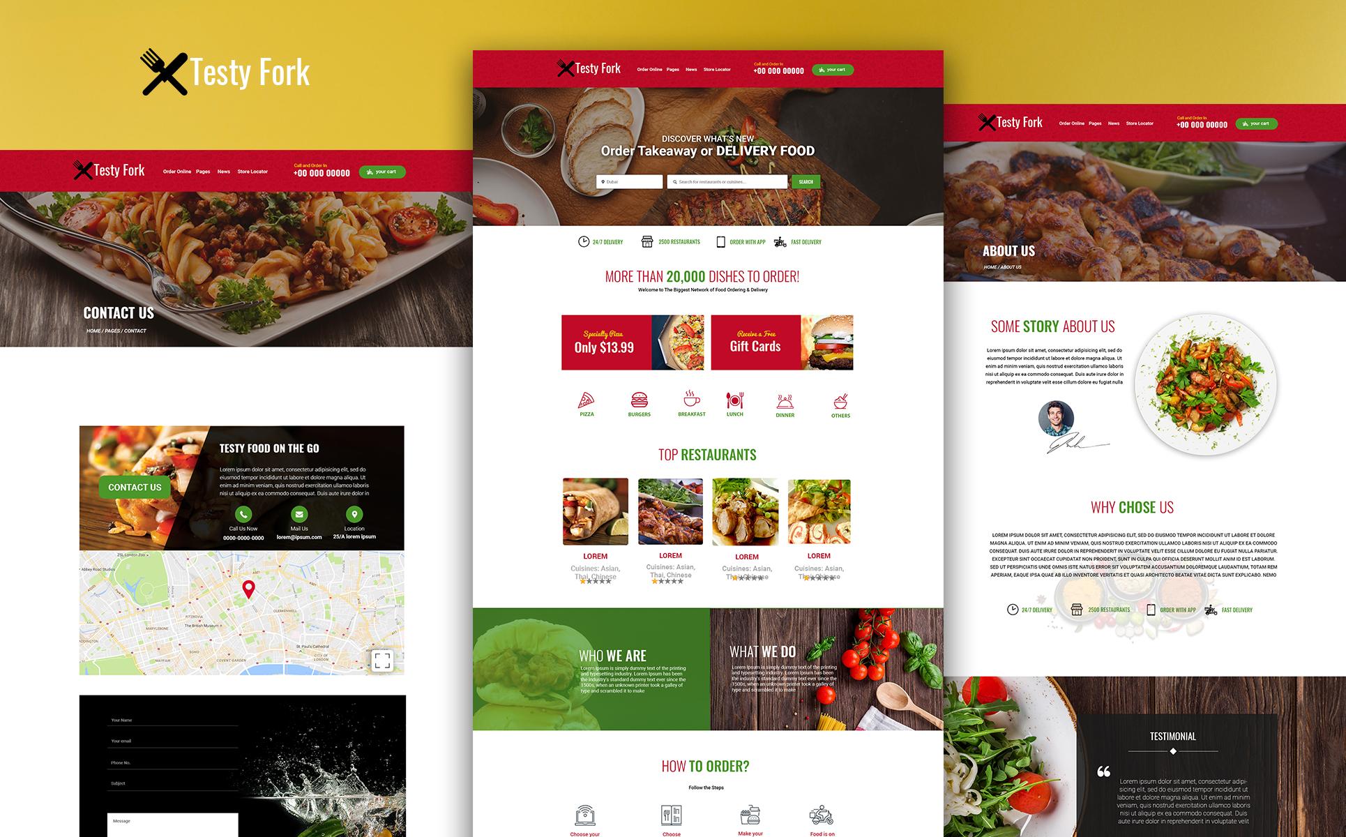 TestyFork - Multipurpose Restaurant PSD Template