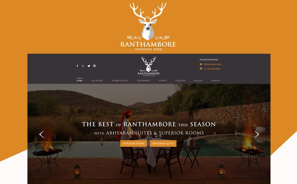 Ranthambore National Park PSD Template