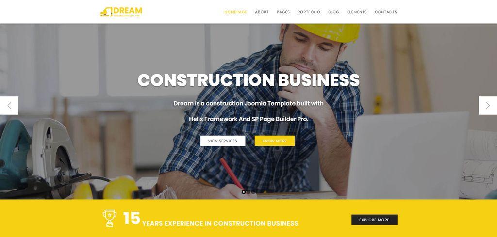 Dream - Construction Joomla Template