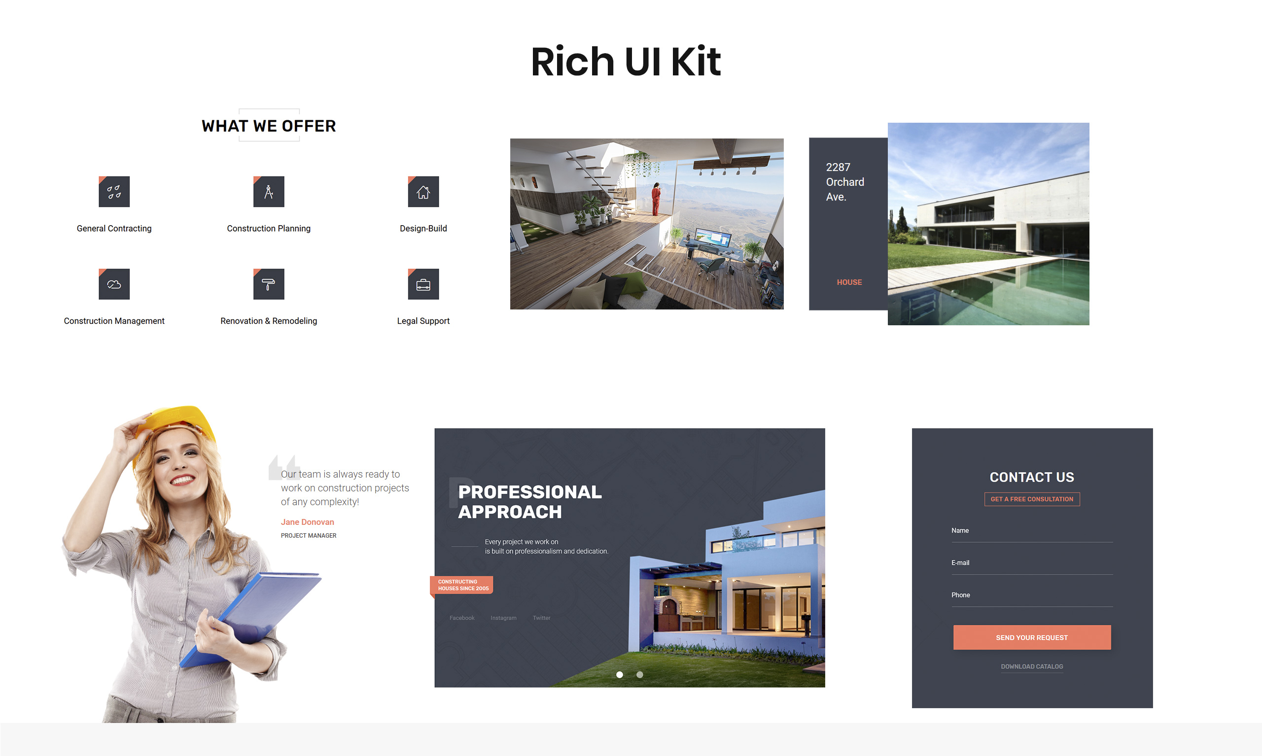ARMA - Construction One Page Clean HTML Landing Page Template