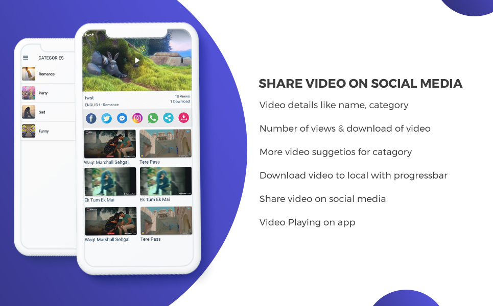 WhatsApp Video Status & Video Sharing with Admin Panel App Template