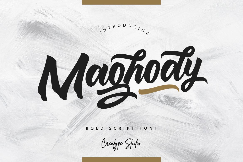 Maghody Script Fonts