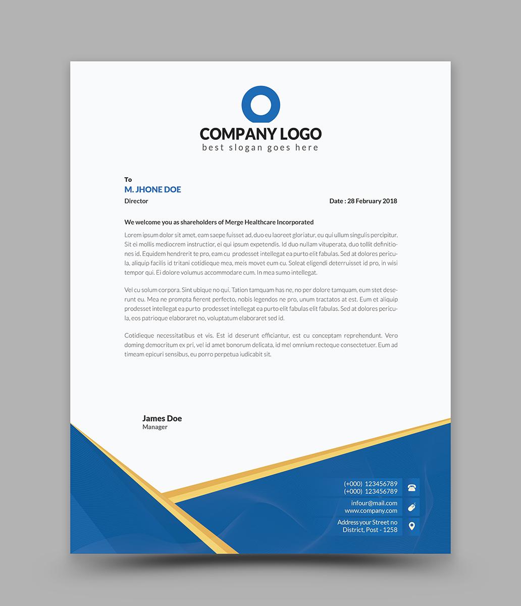 Curves Creative Letterhead - Vector Corporate Identity