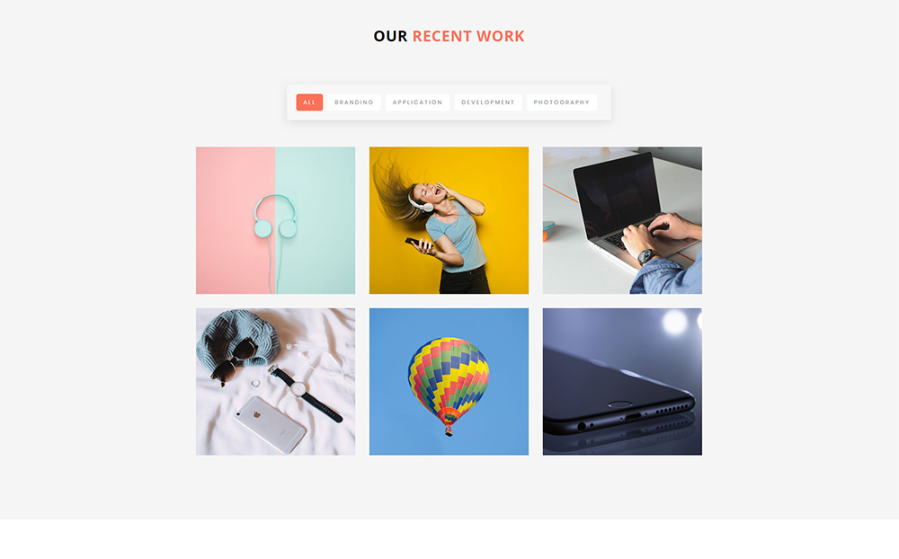 Pigeon - Personal Portfolio Landing Page Template