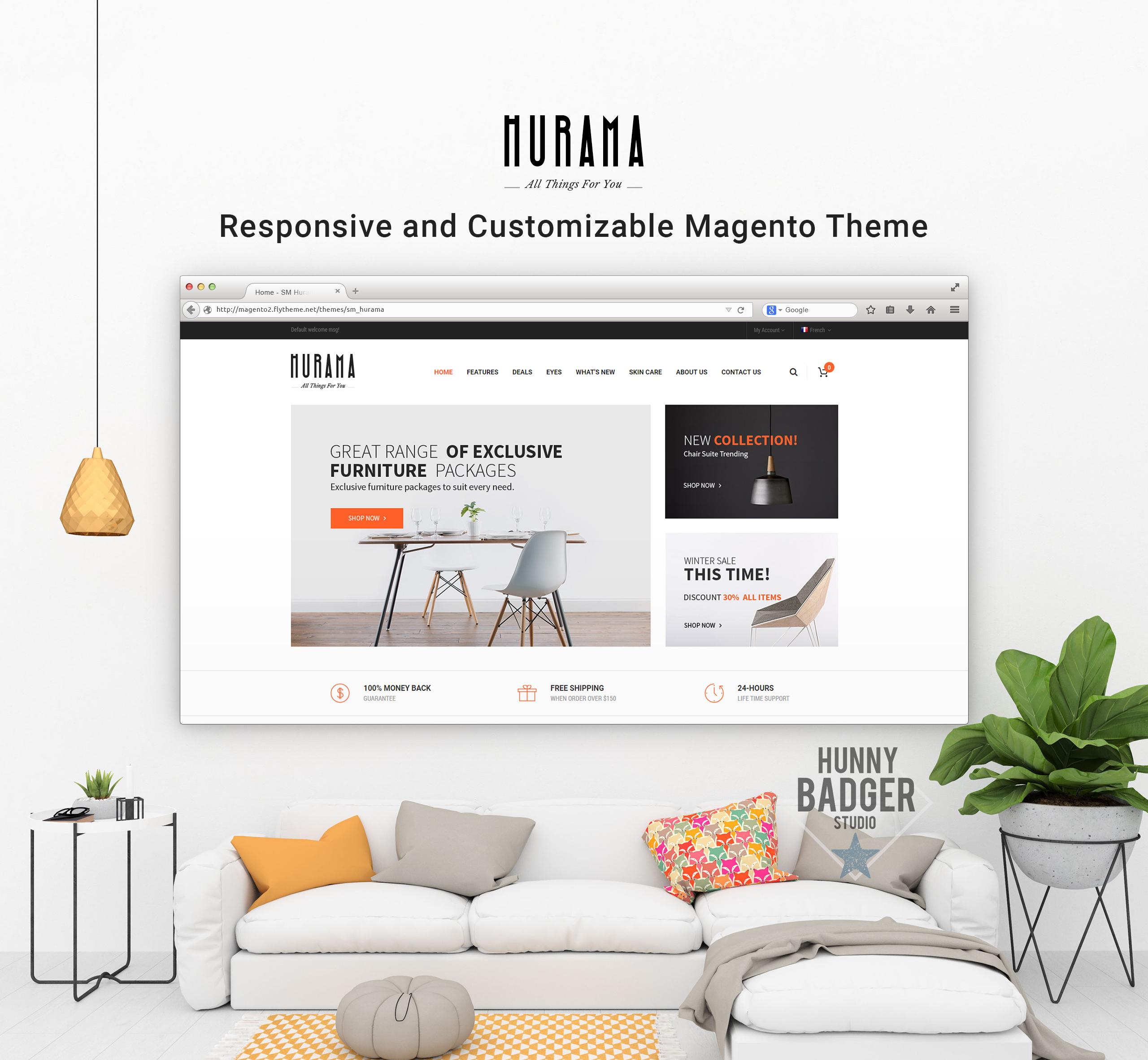 Hurama - Responsive and Customizable Magento Theme