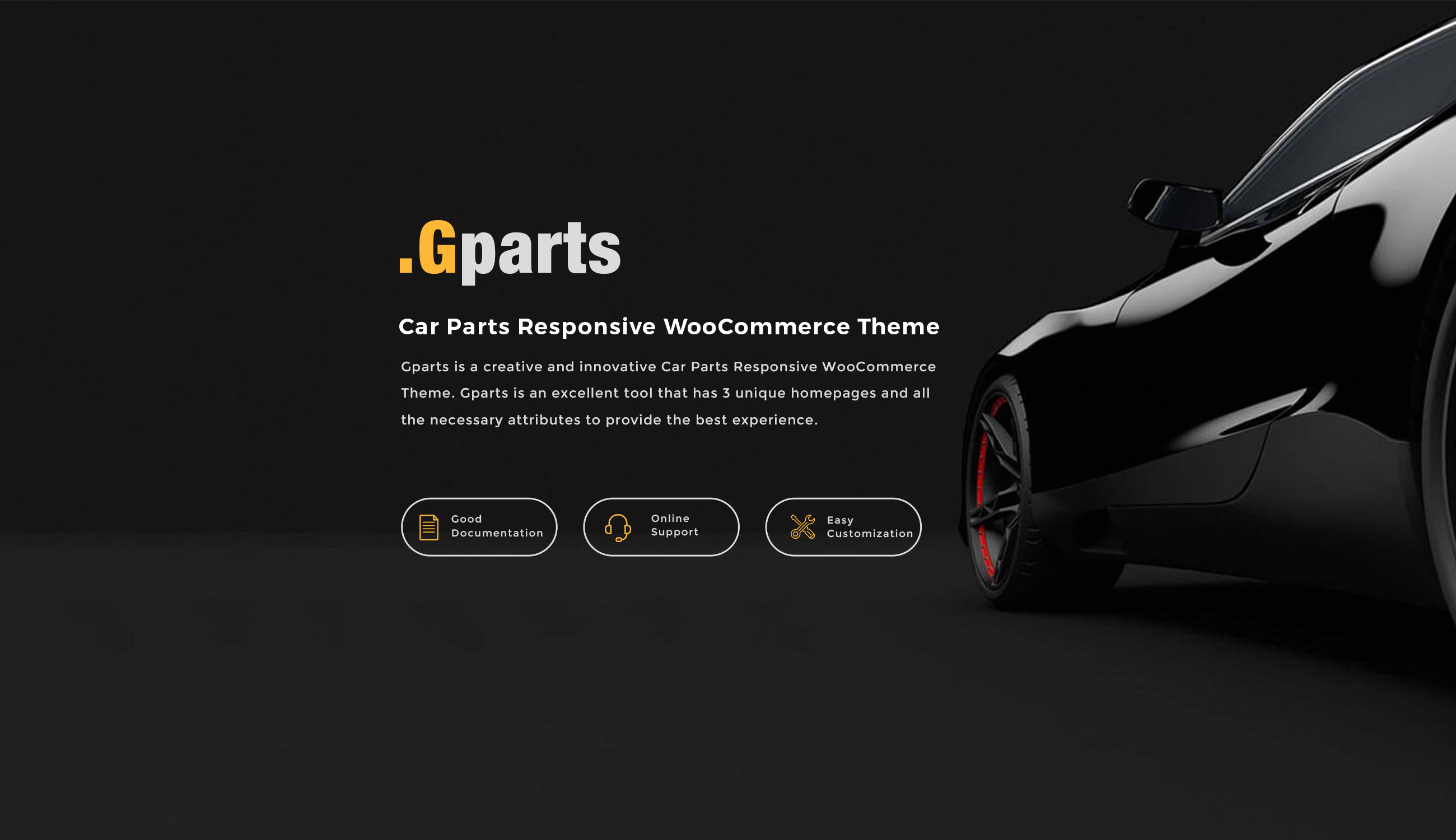 Gparts - Car Parts Responsive WooCommerce Theme