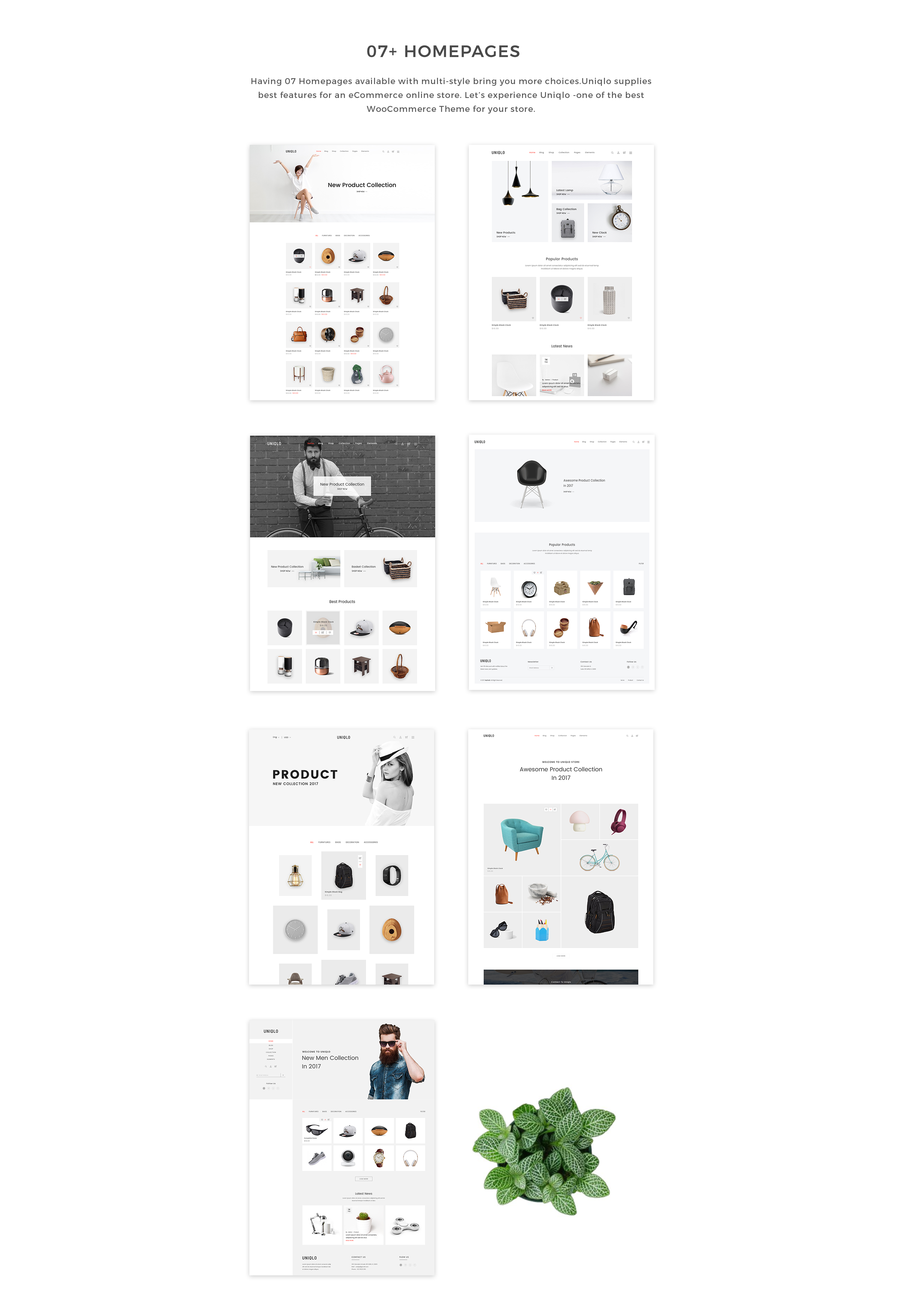 Uniqlo - Minimal WooCommerce Theme