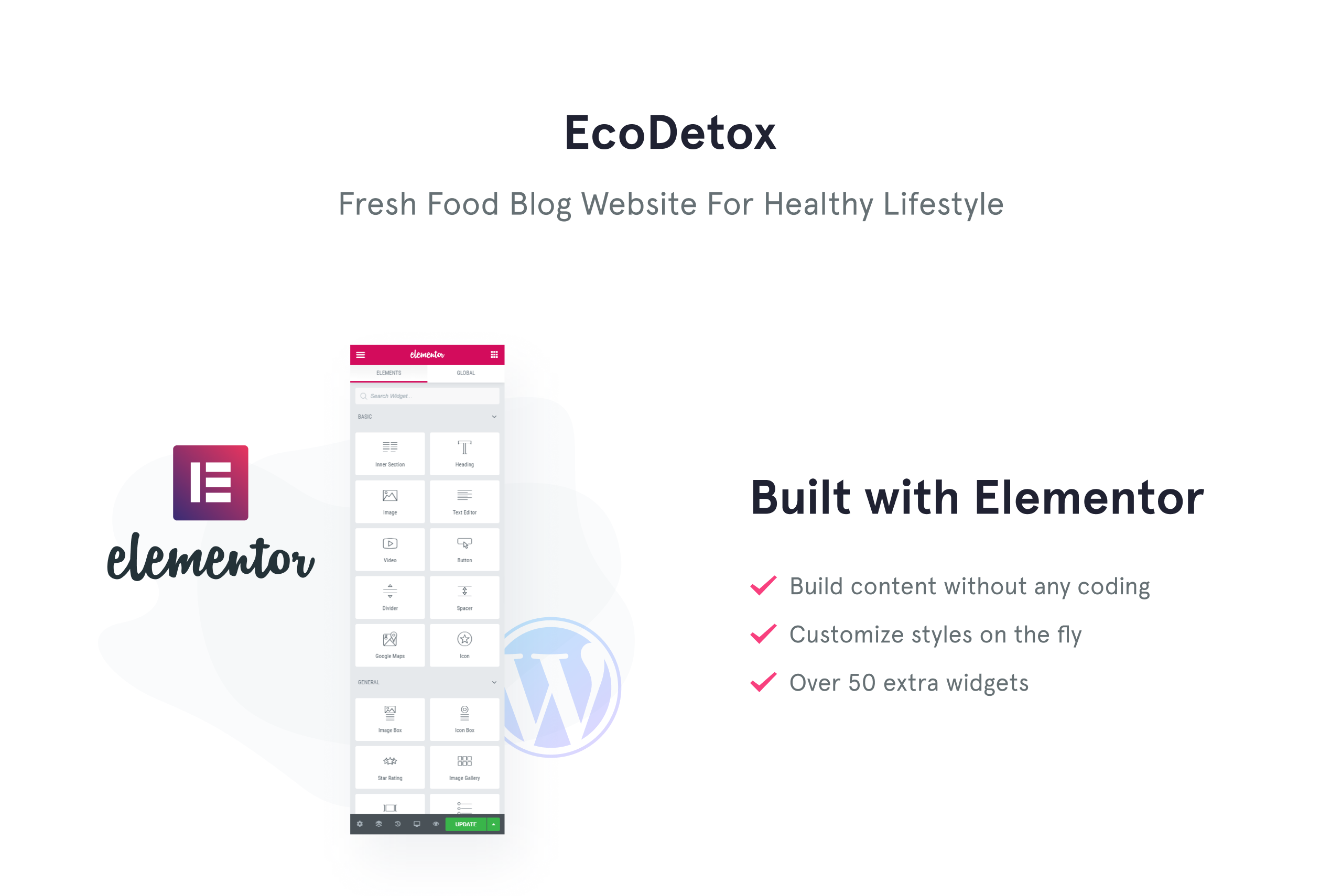 EcoDex - Fresh Food Blog Website For Healthy Lifestyle WordPress Theme
