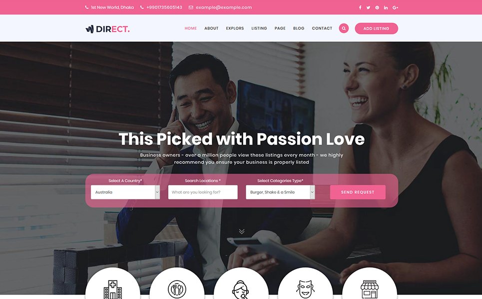Direct- Directory & Listing Website Template