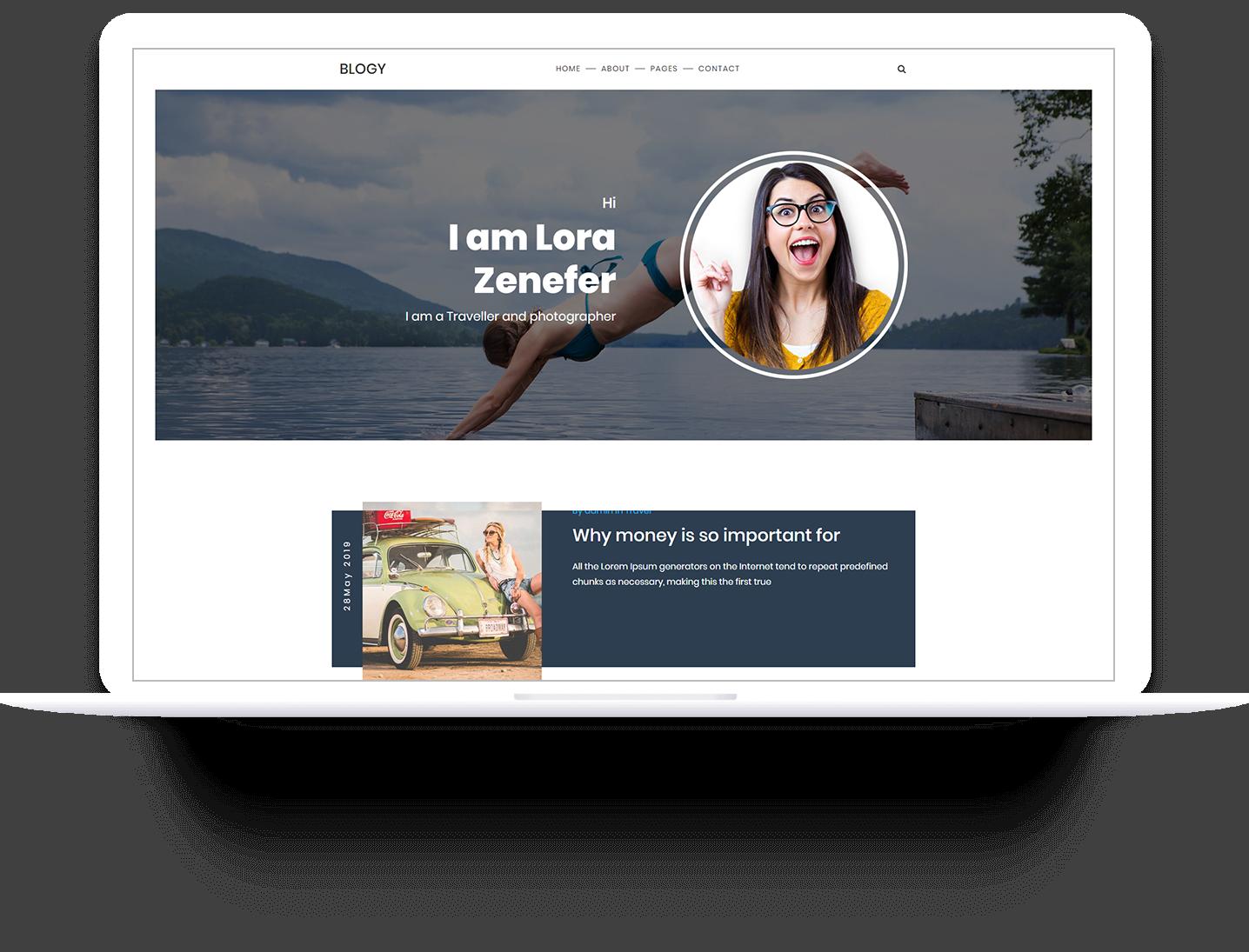 Blogy Personal Blog Responsive WordPress Theme