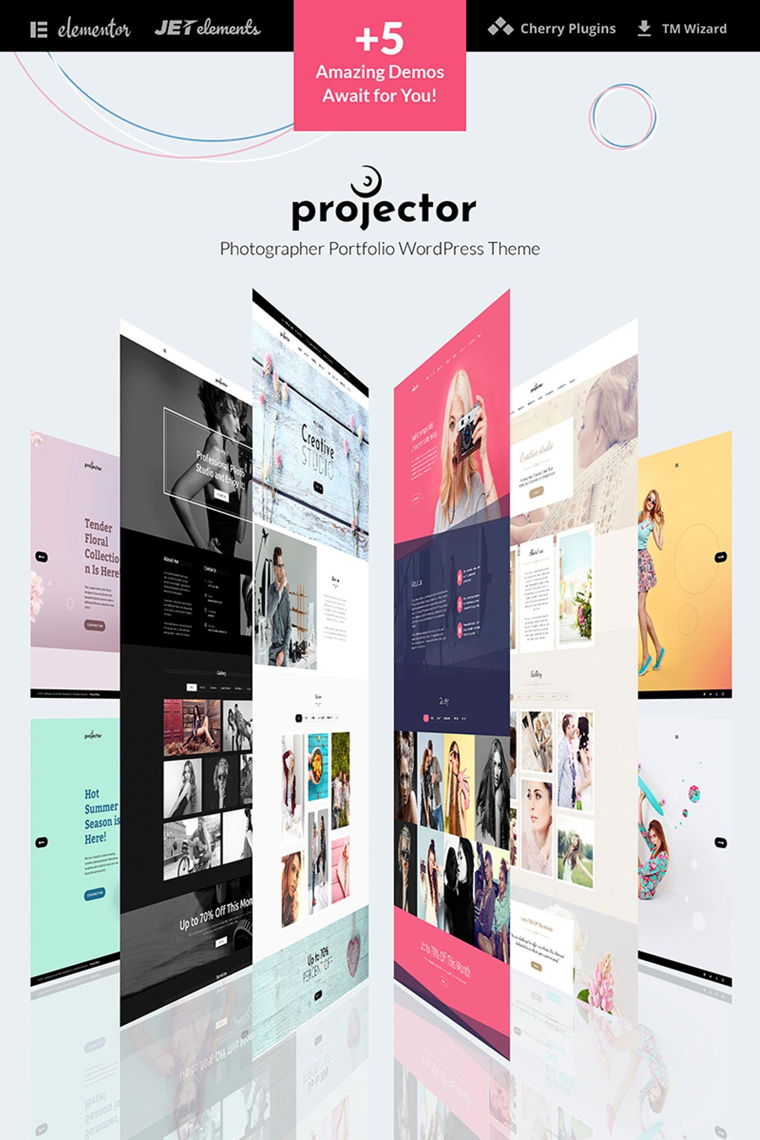 Modello WordPress  #65915 per Un Sito di Galleria fotografica Screenshot grande