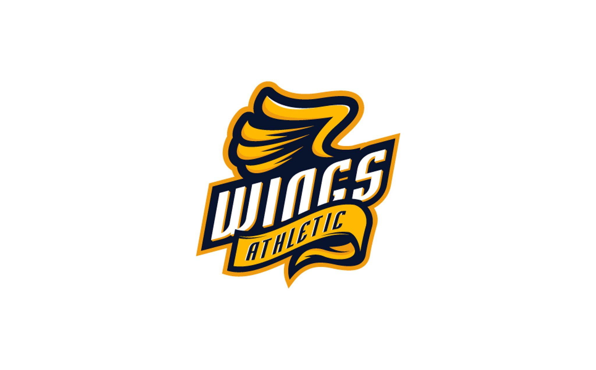 Wings Athletic Logo Template