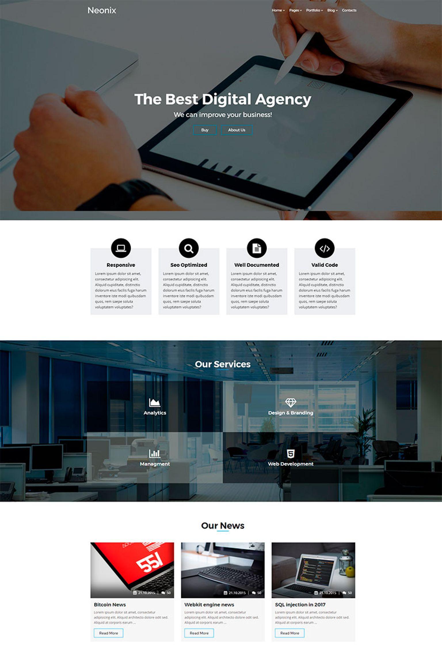 Bootstrap Danışmanlık  Wordpress Teması