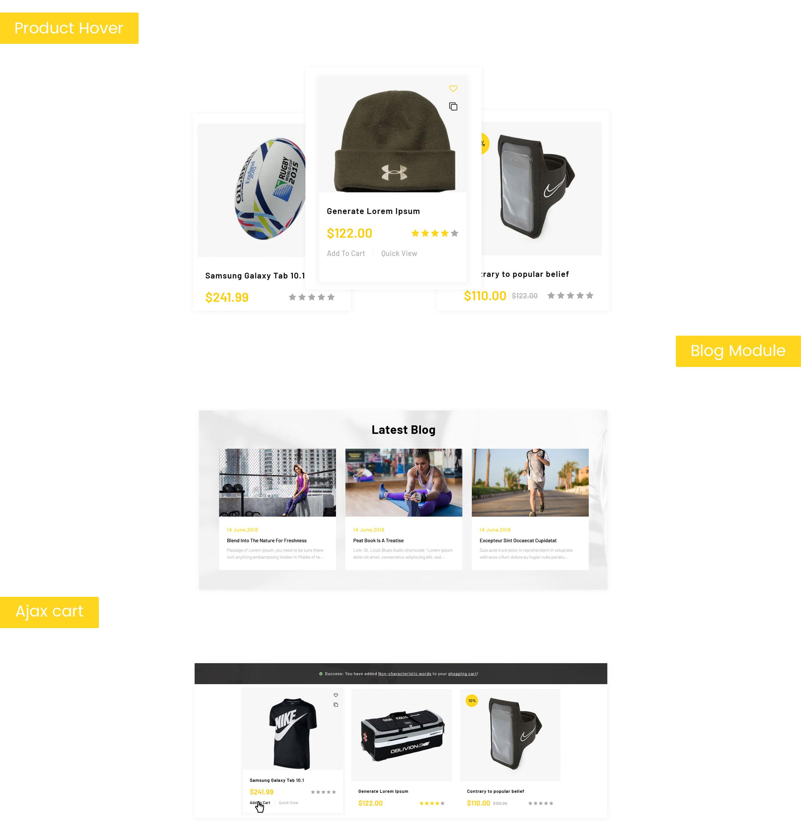 Runner - Sports Store OpenCart Template