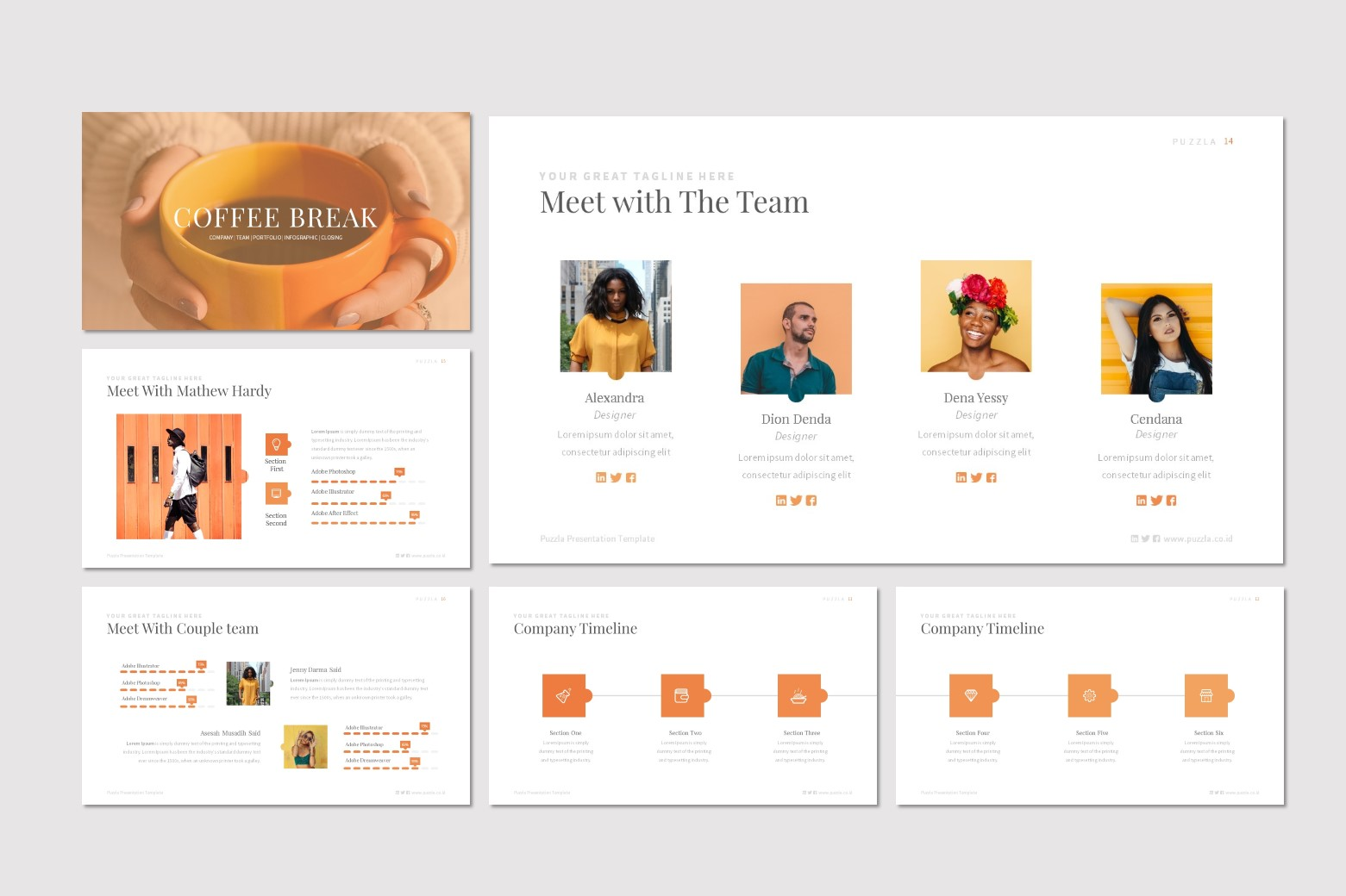 Puzzla powerpoint template pwtthemes. Com.