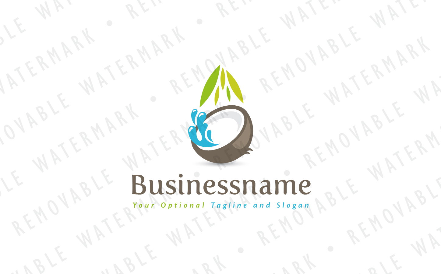 coconut water logo template