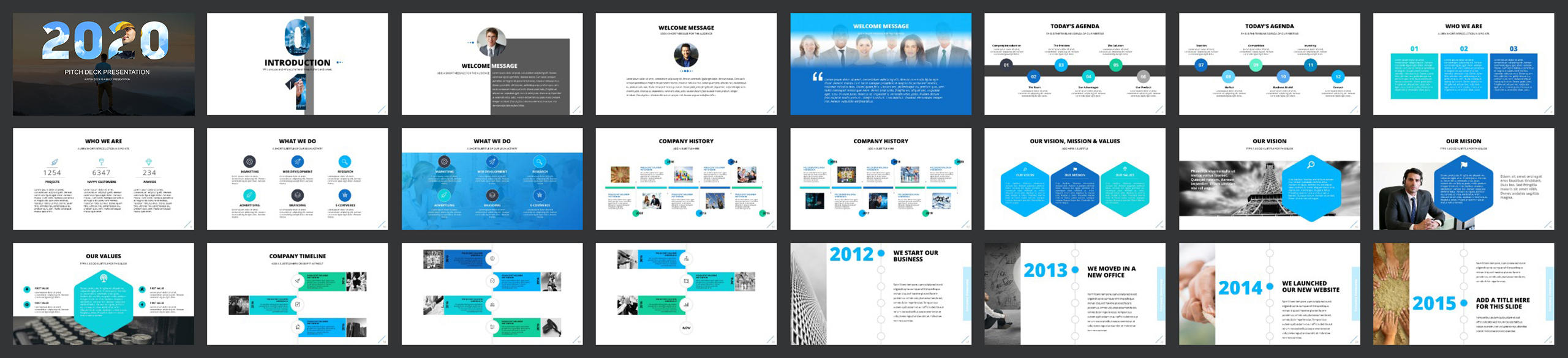 Pitch Deck 2020 PowerPoint Template