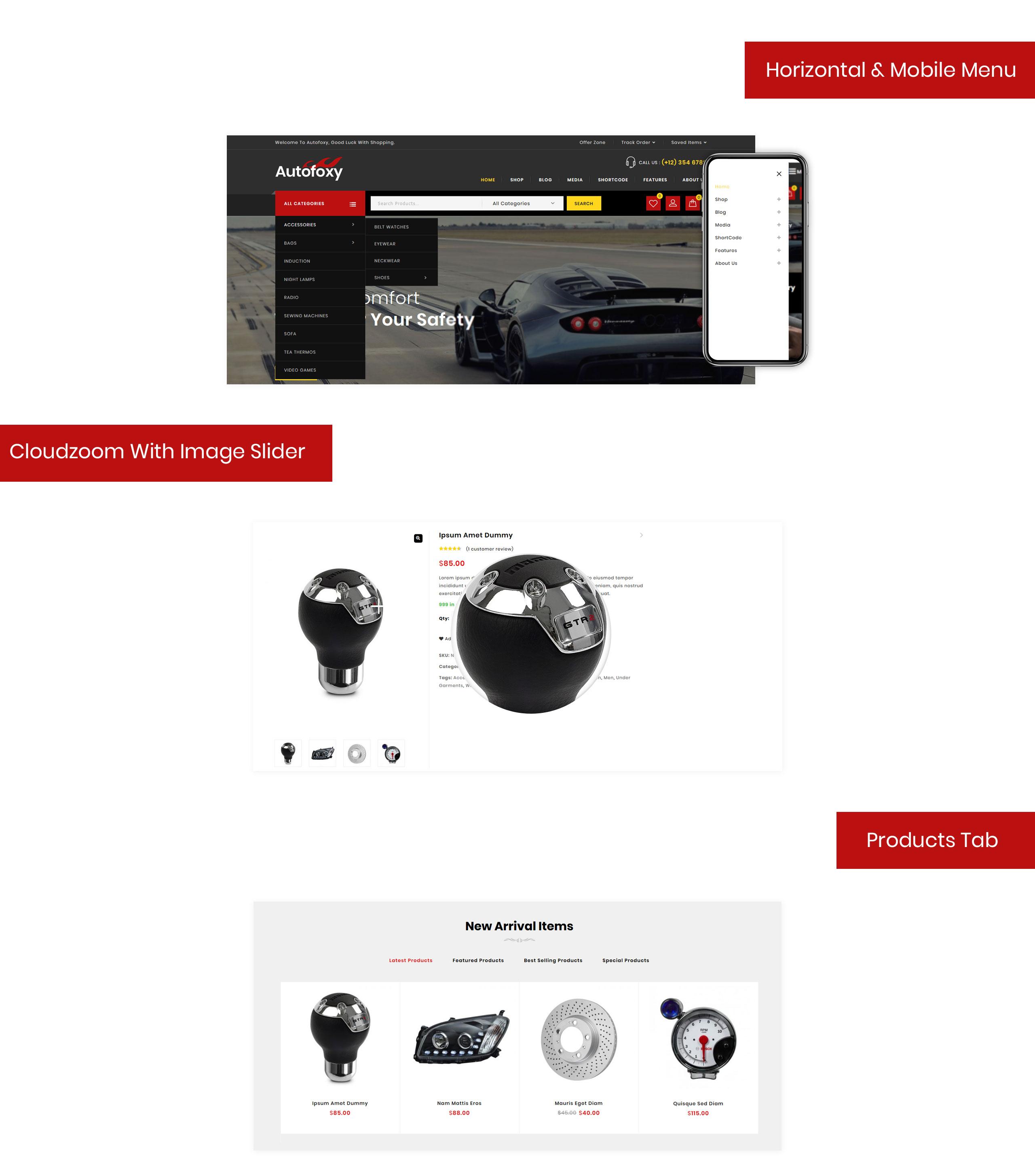 Autofoxy - Auto Parts Store WooCommerce Theme