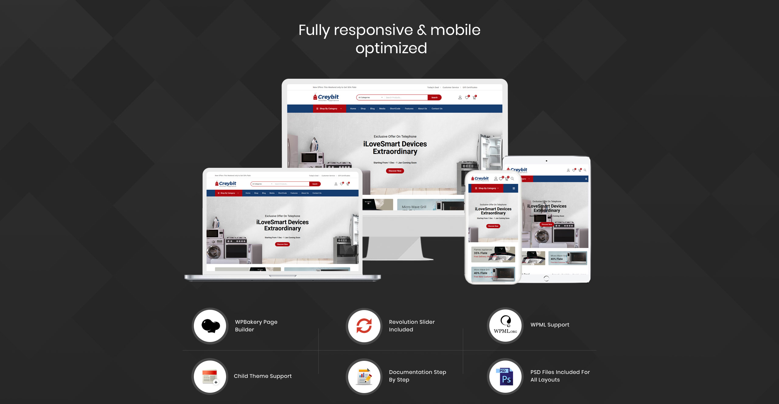 Creybit - Home Appliances Store WooCommerce Theme