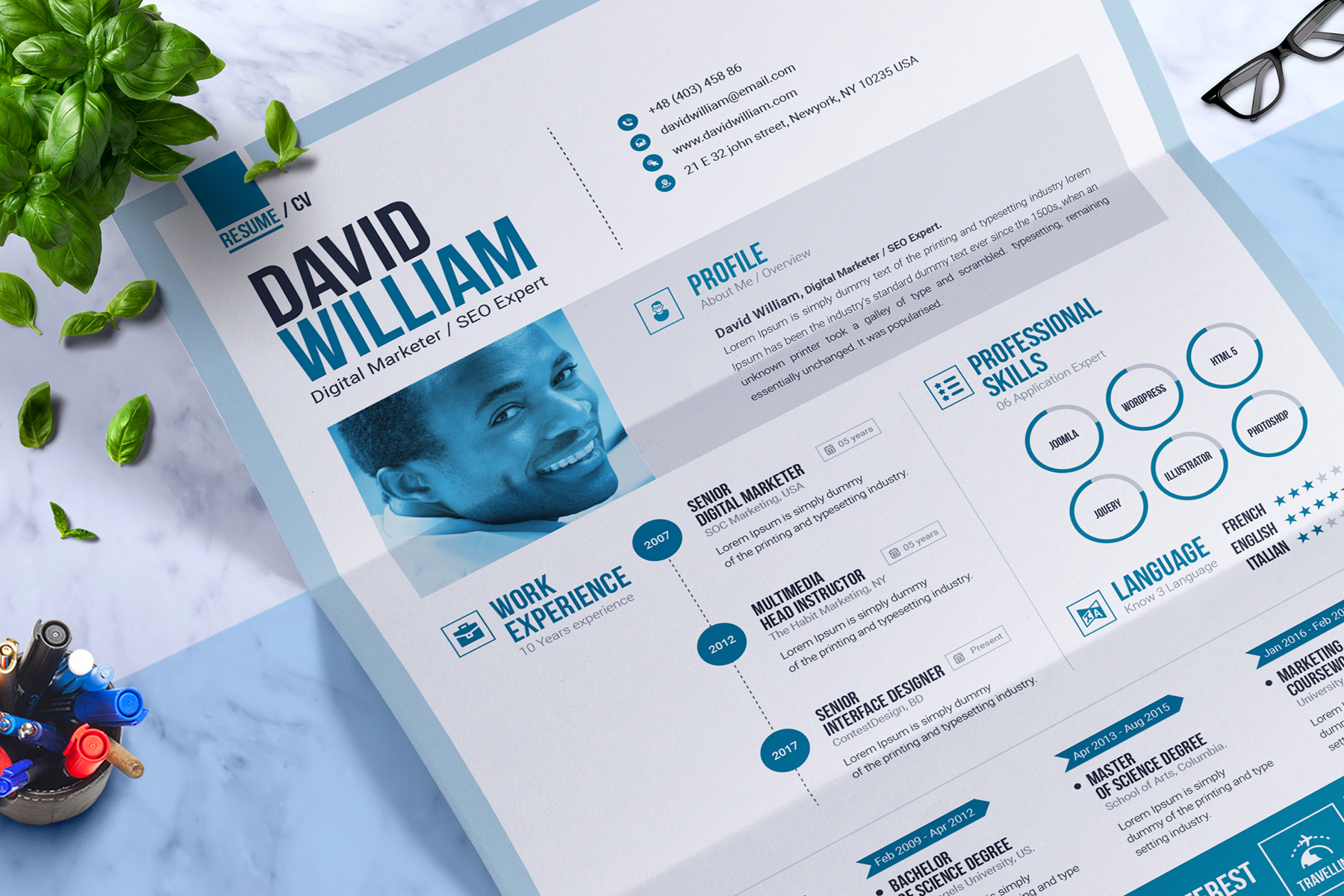 Job / CV  Builder with ms word Resume Template