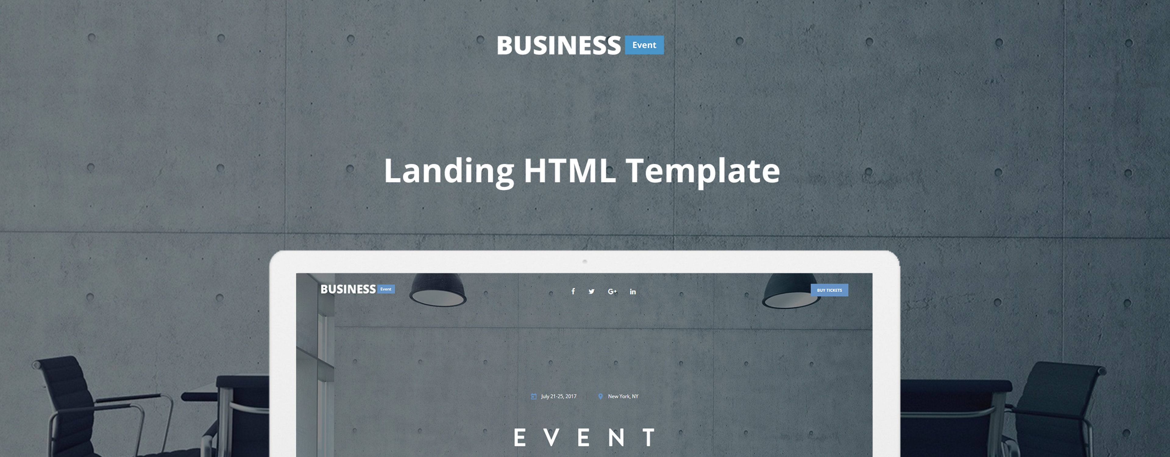 Business Event - Event Planner Landing Page Template