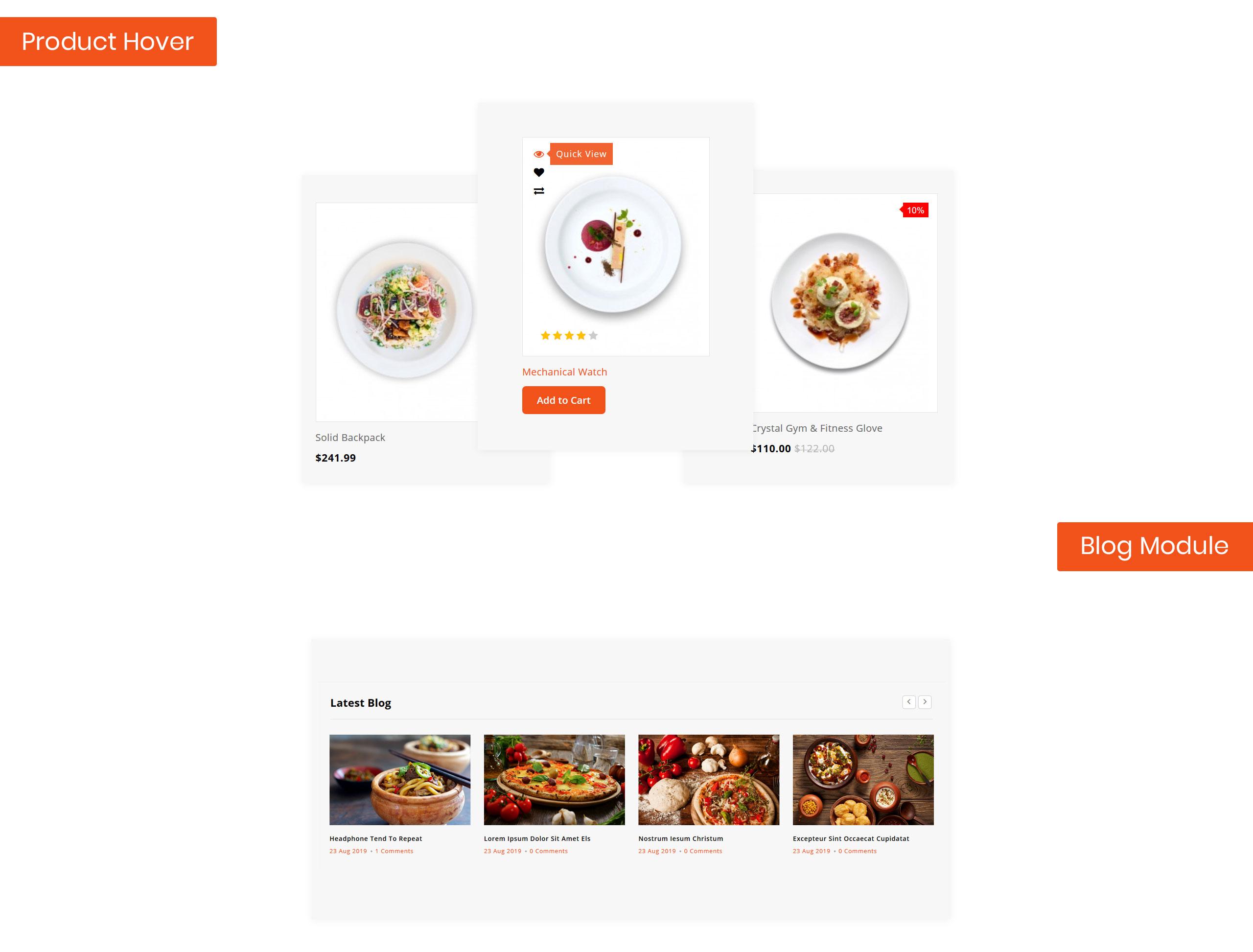 Foodezia - Restaurant Store OpenCart Template