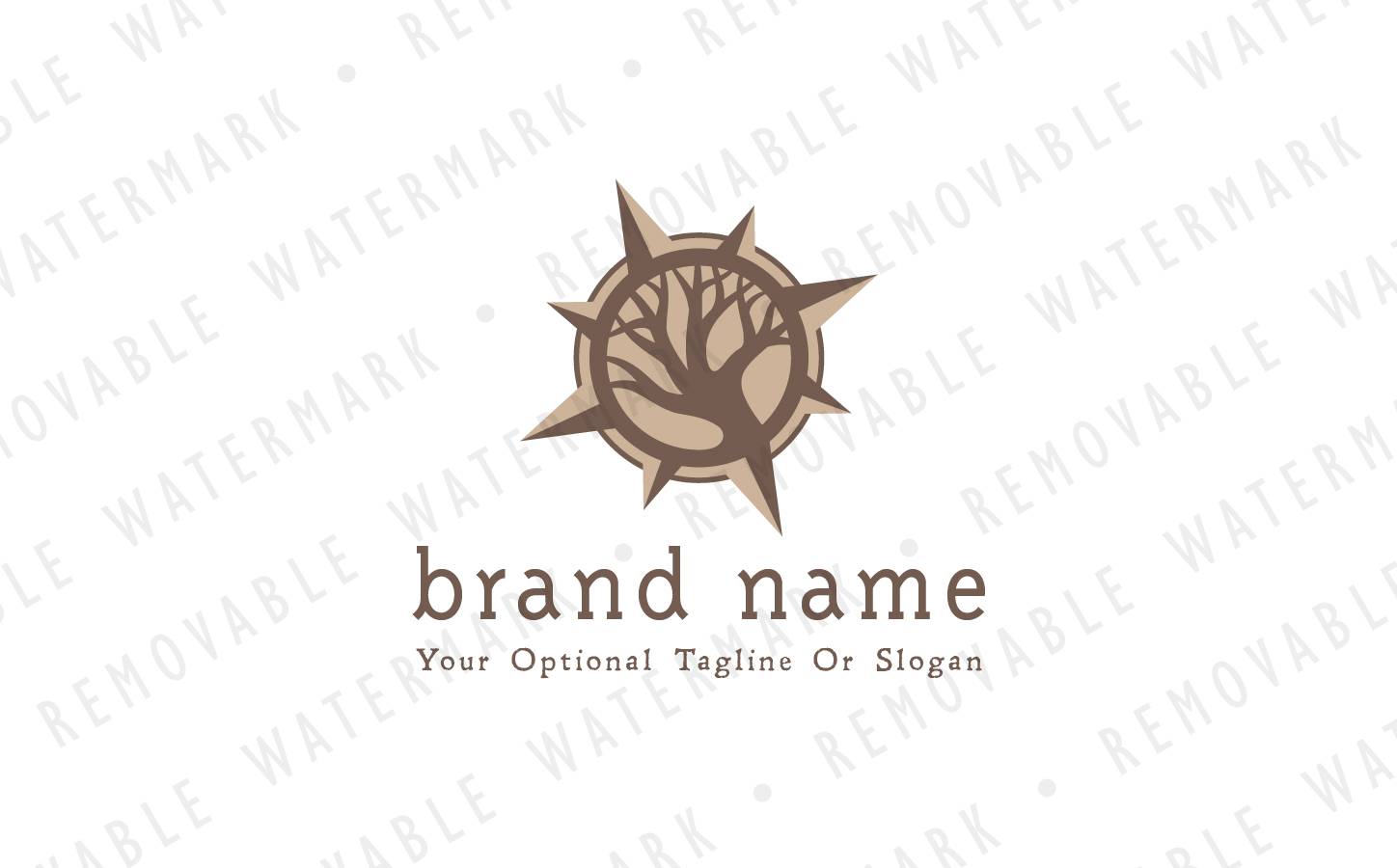 Old Wood Compass Logo Template