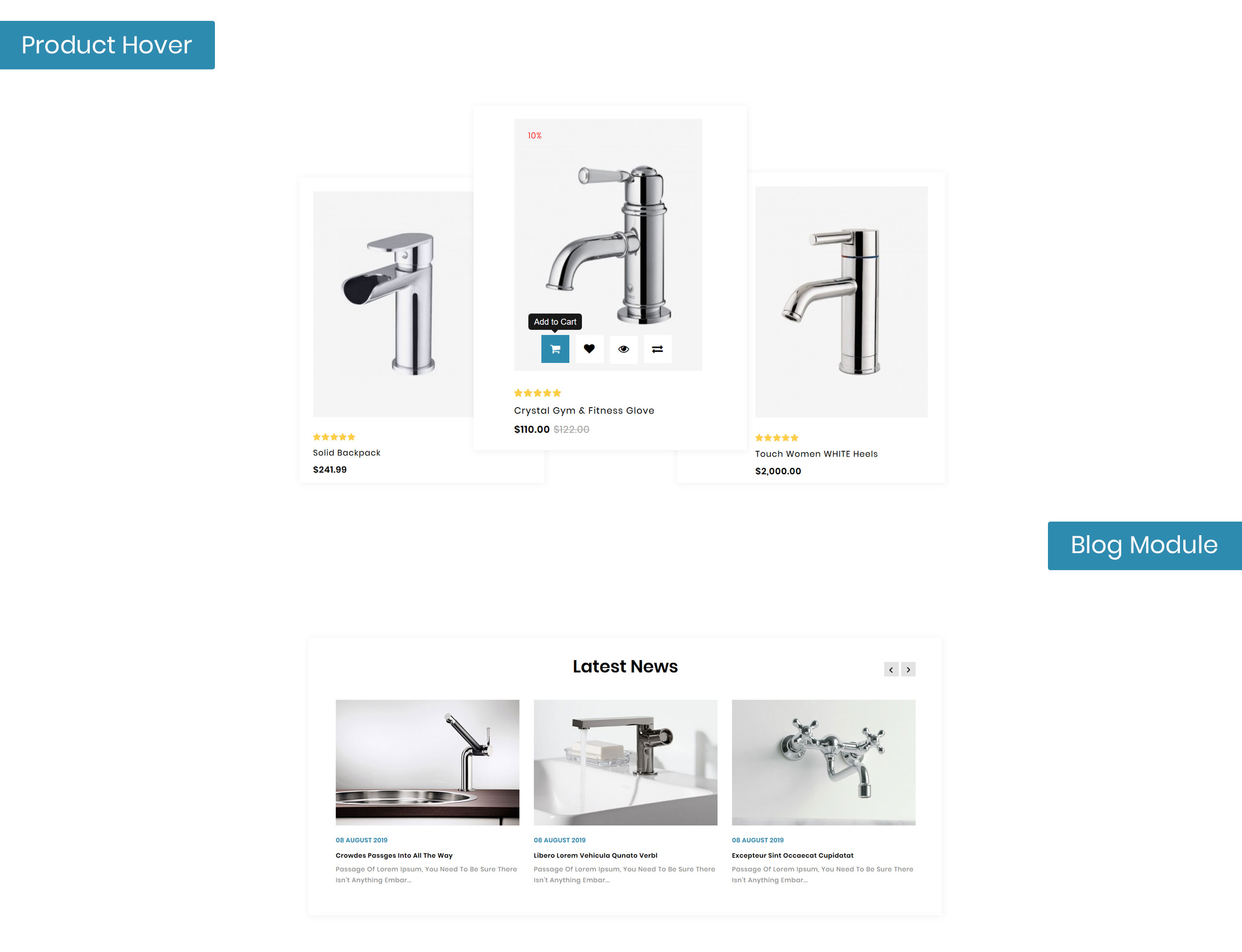 Sterling - Bathroom Accessories Store OpenCart Template