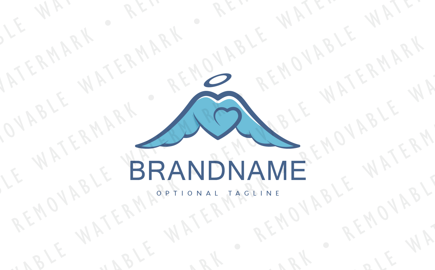 Angel Heart Logo Template