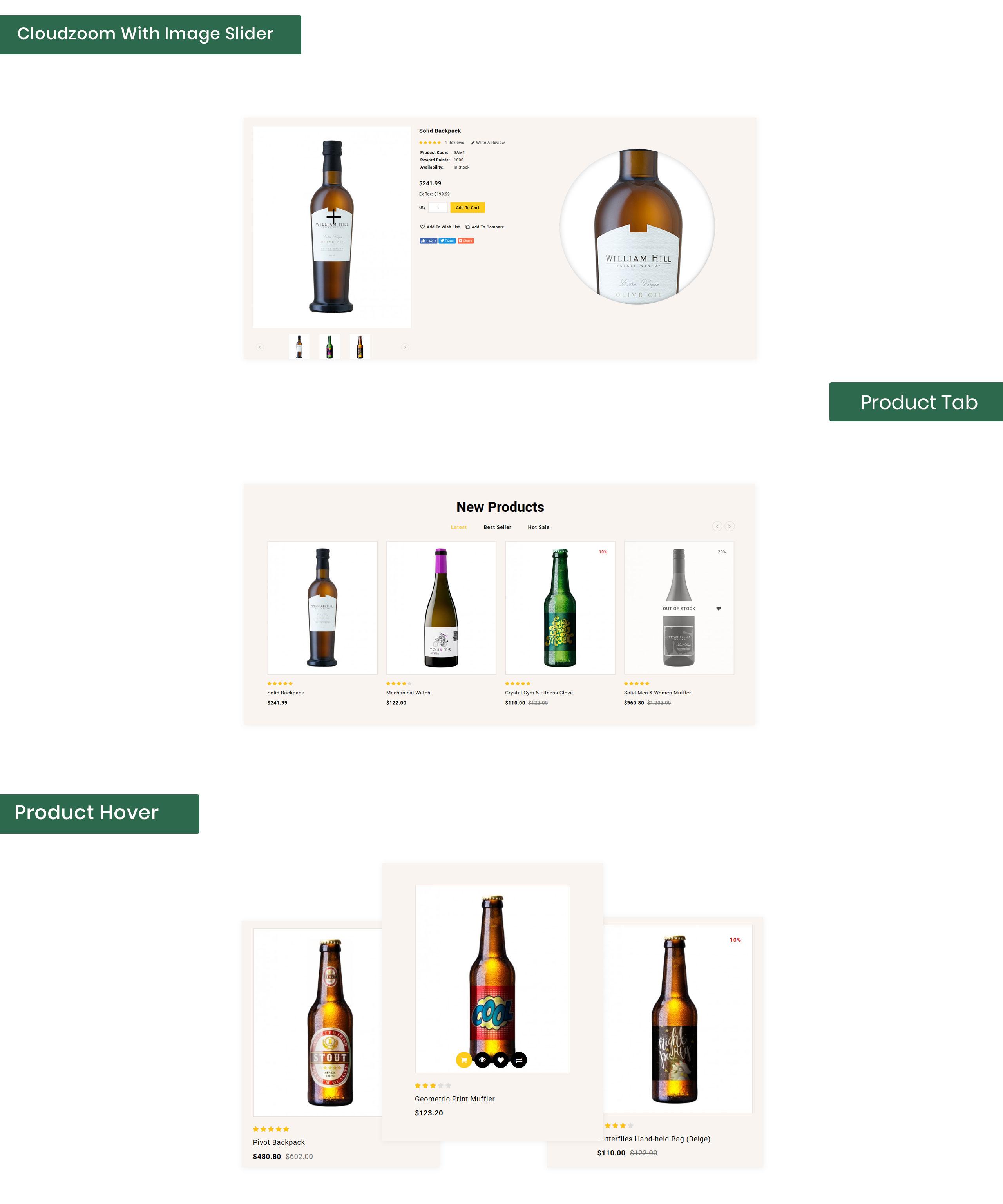 Wintenic - Wine & Drink Shop OpenCart Template
