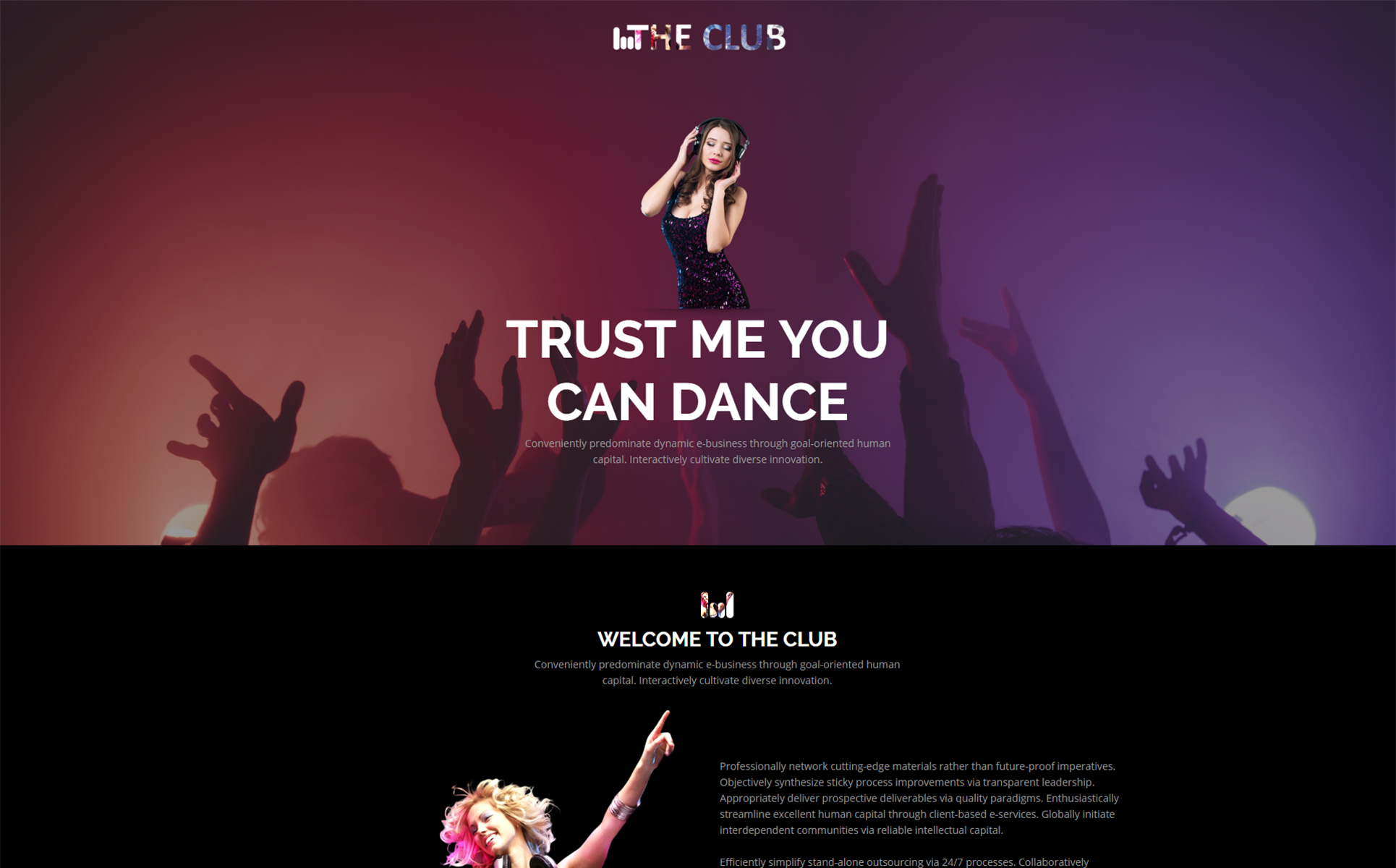 The Club Unbounce Template