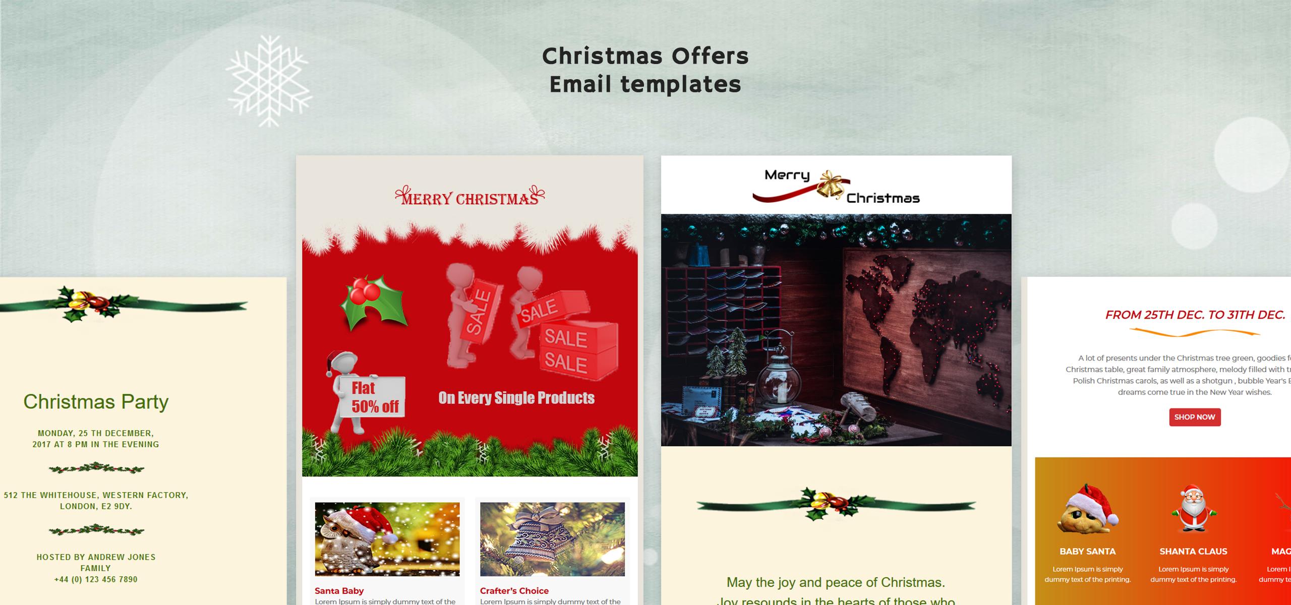 Merry Xmas Responsive Newsletter Template