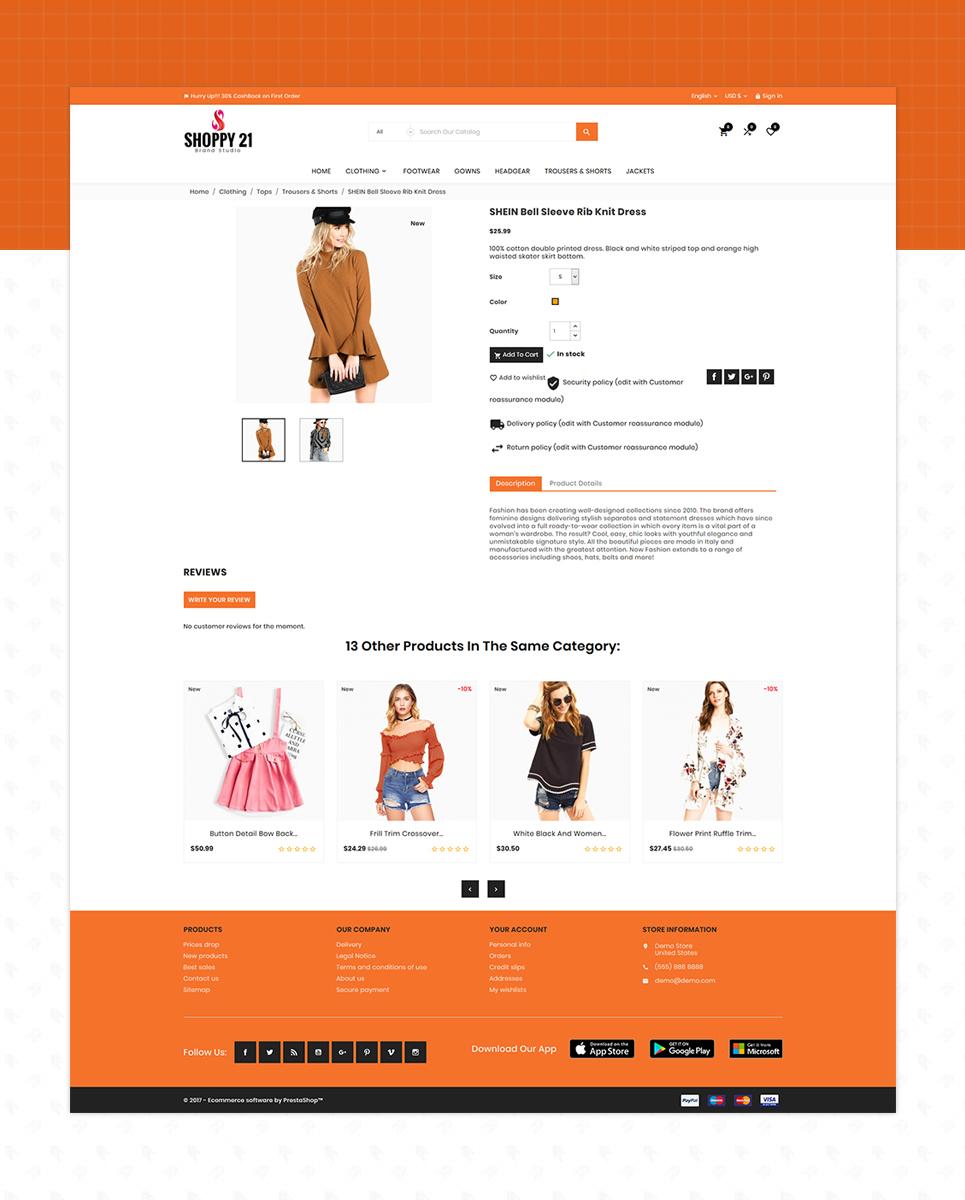 Shoppy21 - Fashion Responsive Store PrestaShop Theme
