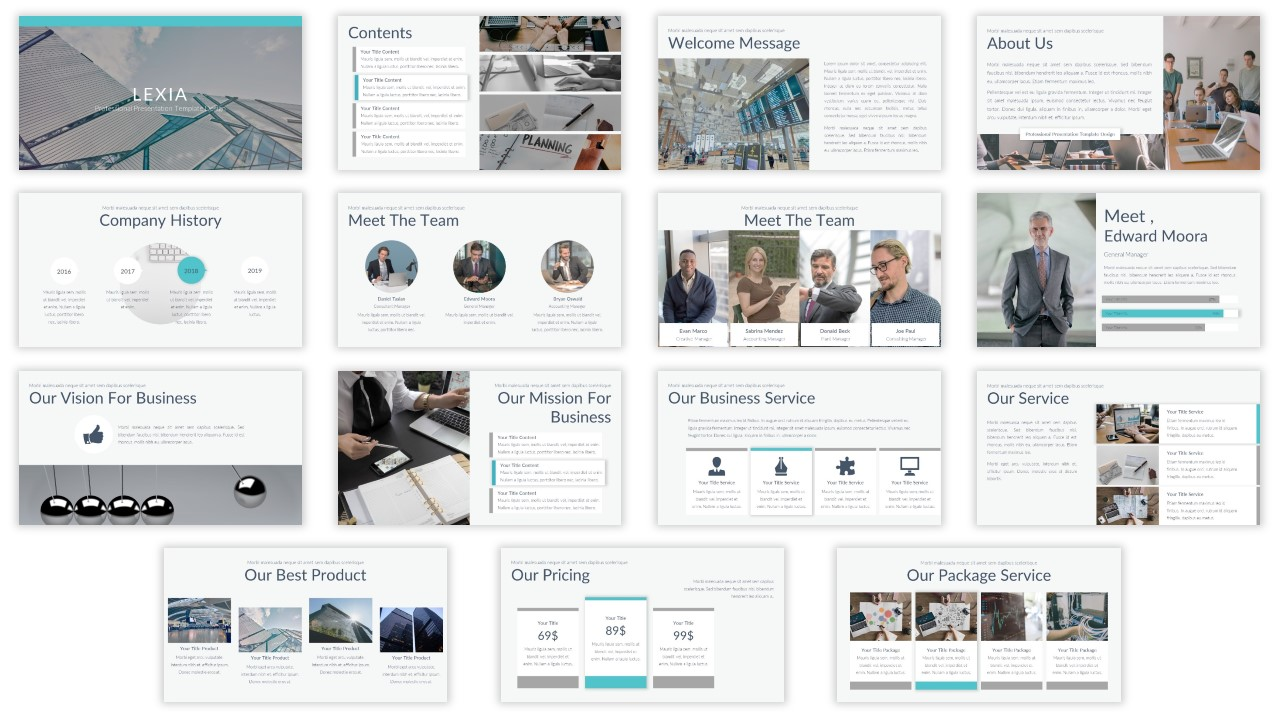 Lexia Professional PowerPoint Template