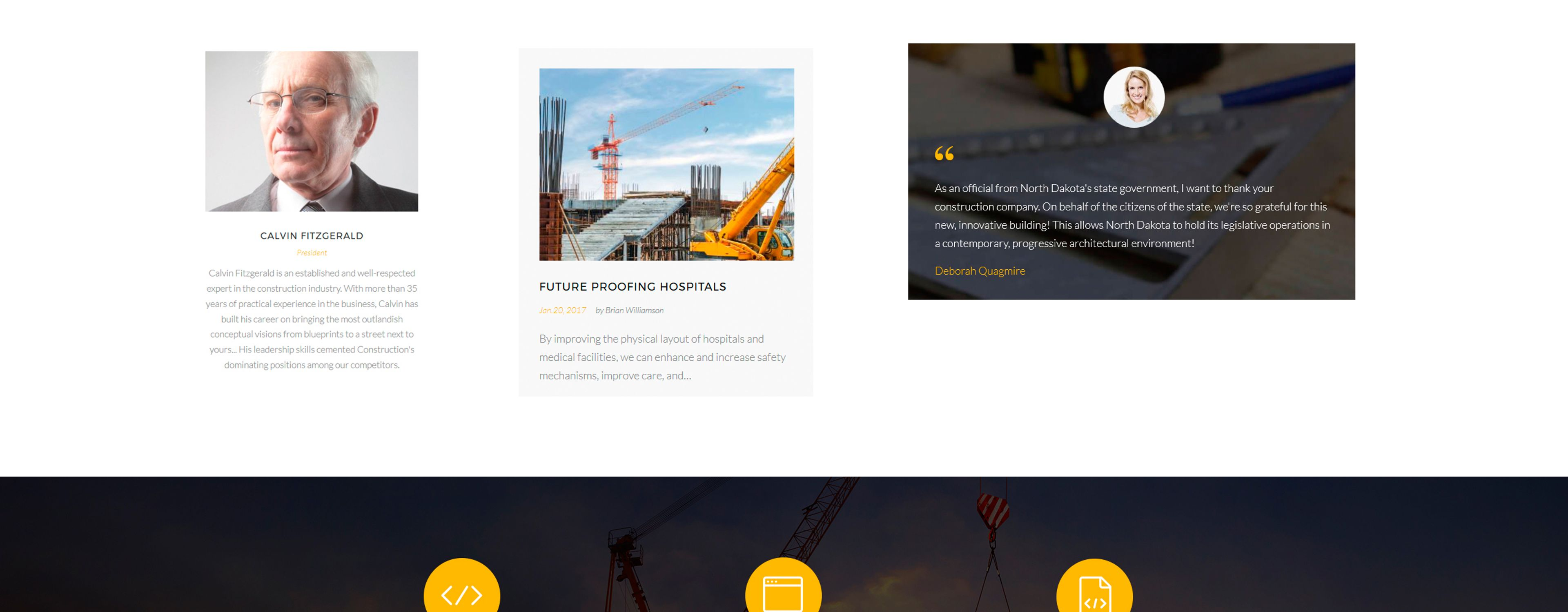 Constructo - Construction Company Landing Page Template