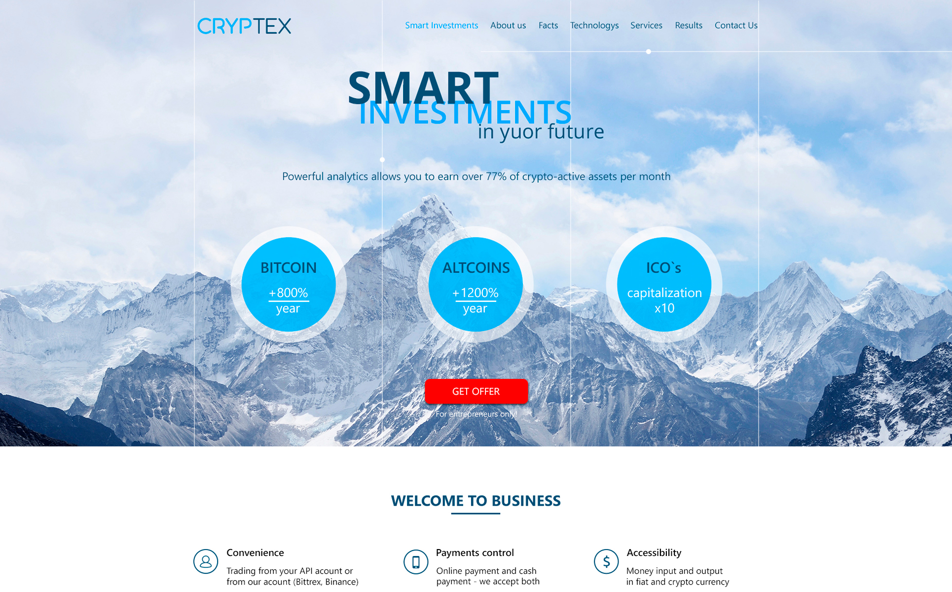 Cryptex PSD Template