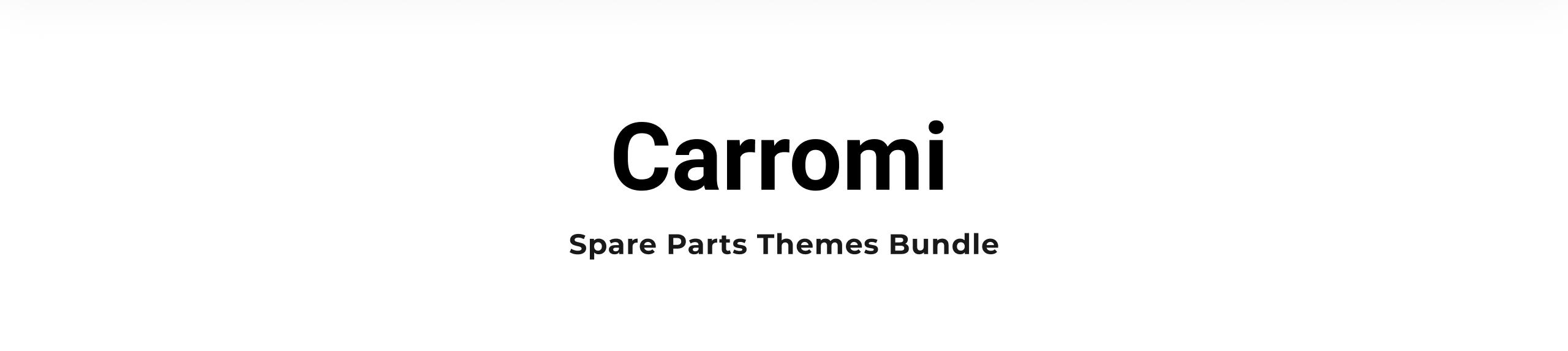 Spare Parts Themes Carromi Shopify Theme