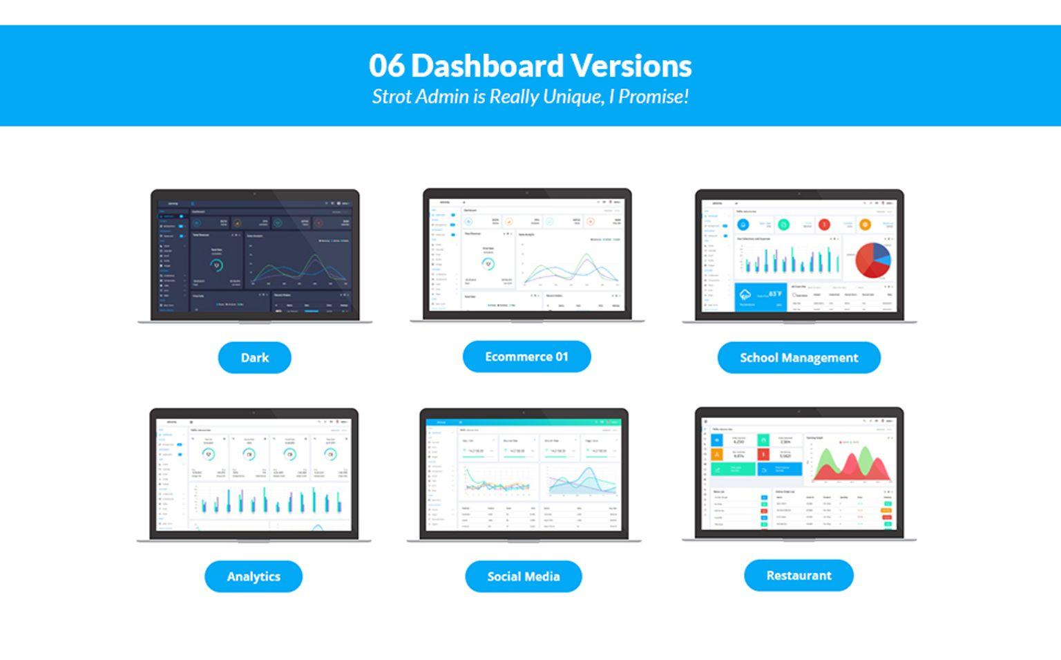 Strot Admin - Responsive Dashboard Admin Template