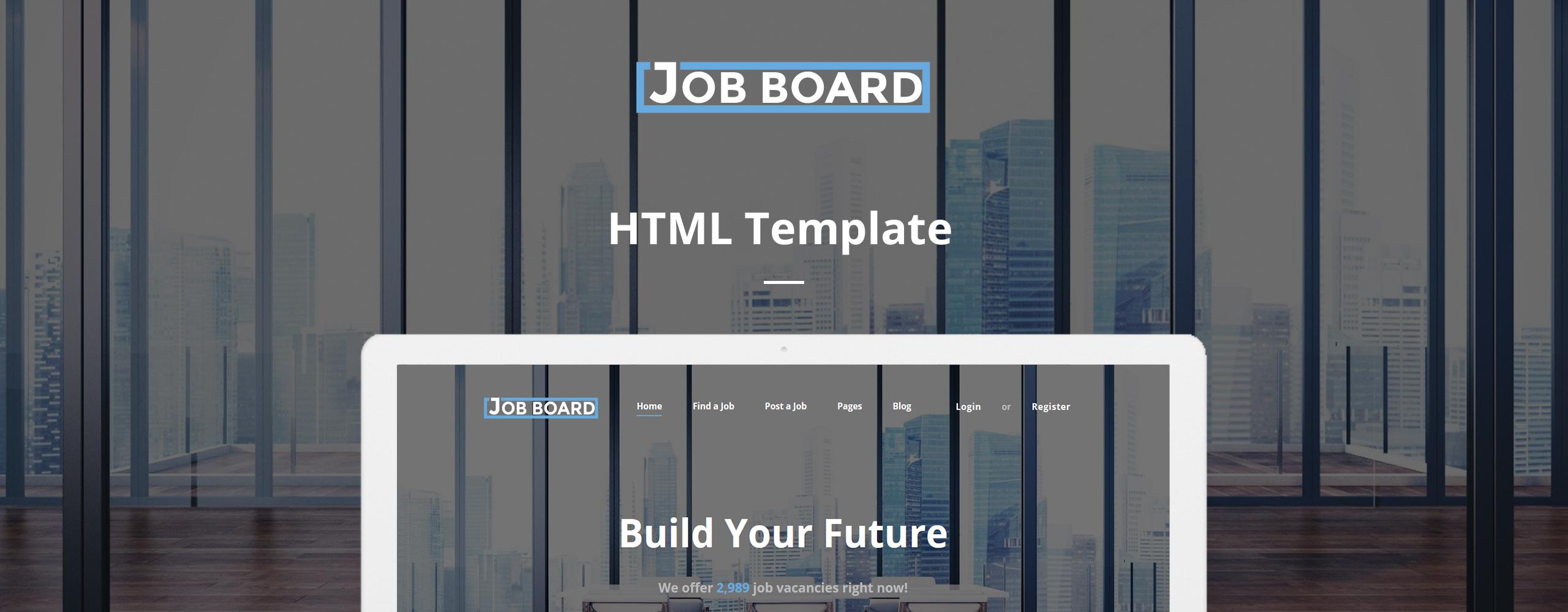 Job Board - Job Portal Responsive Website Template