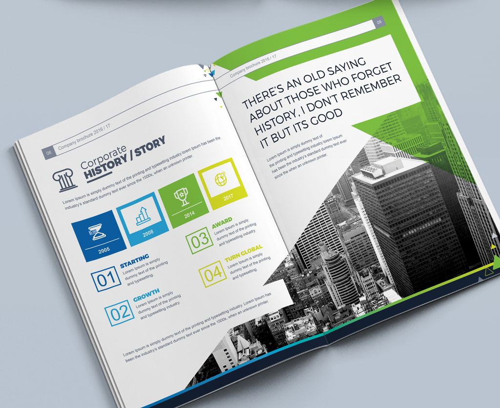 Company Business Brochure InDesign - Corporate Identity
