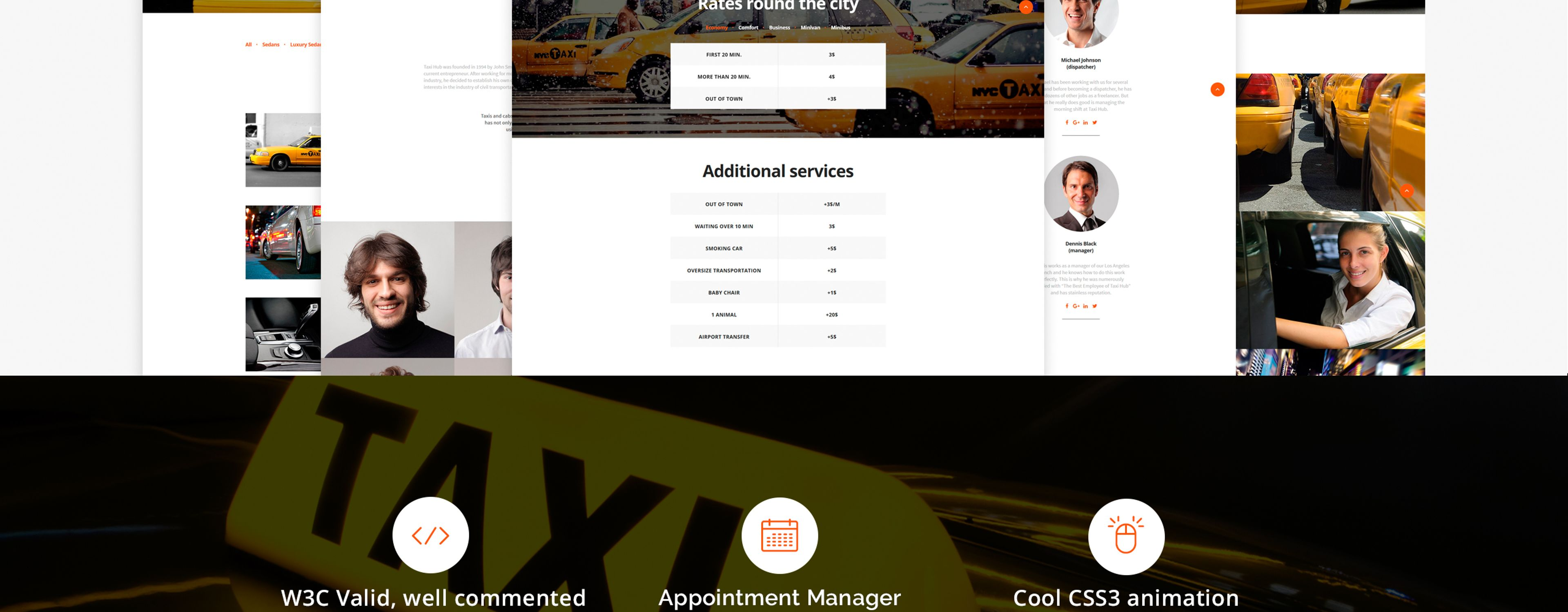 TaxiHub Website Template