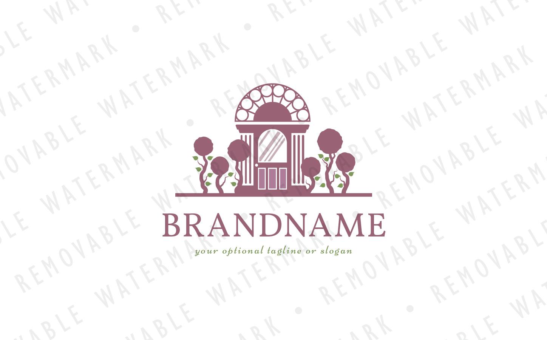 Garden House Logo Template